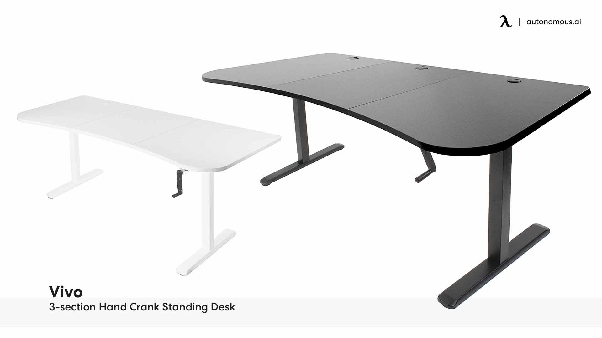 Vivo Three-section Hand Crank Standing Desk