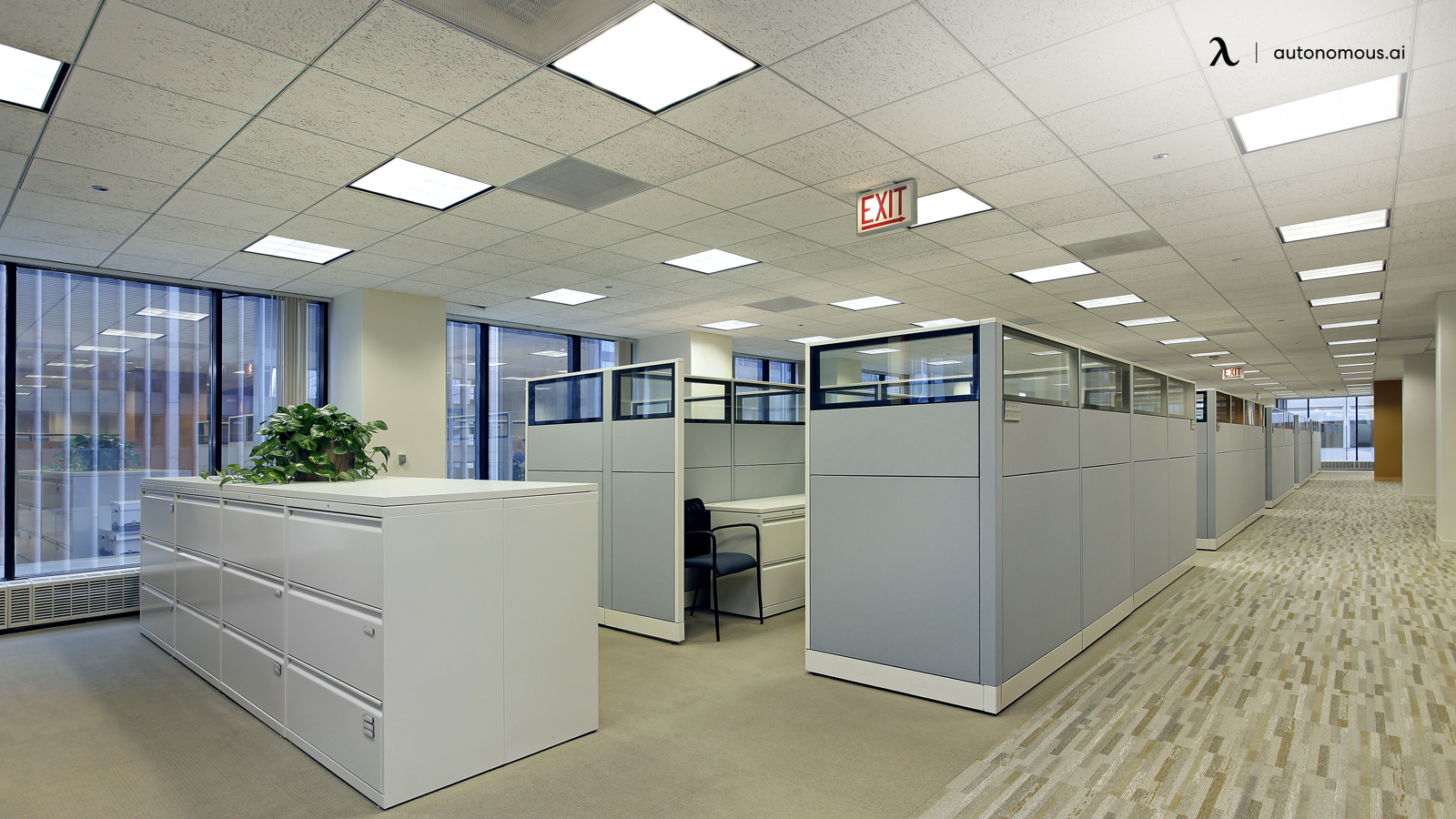 Furnishing Office With Cubicles and Filing Cabinets