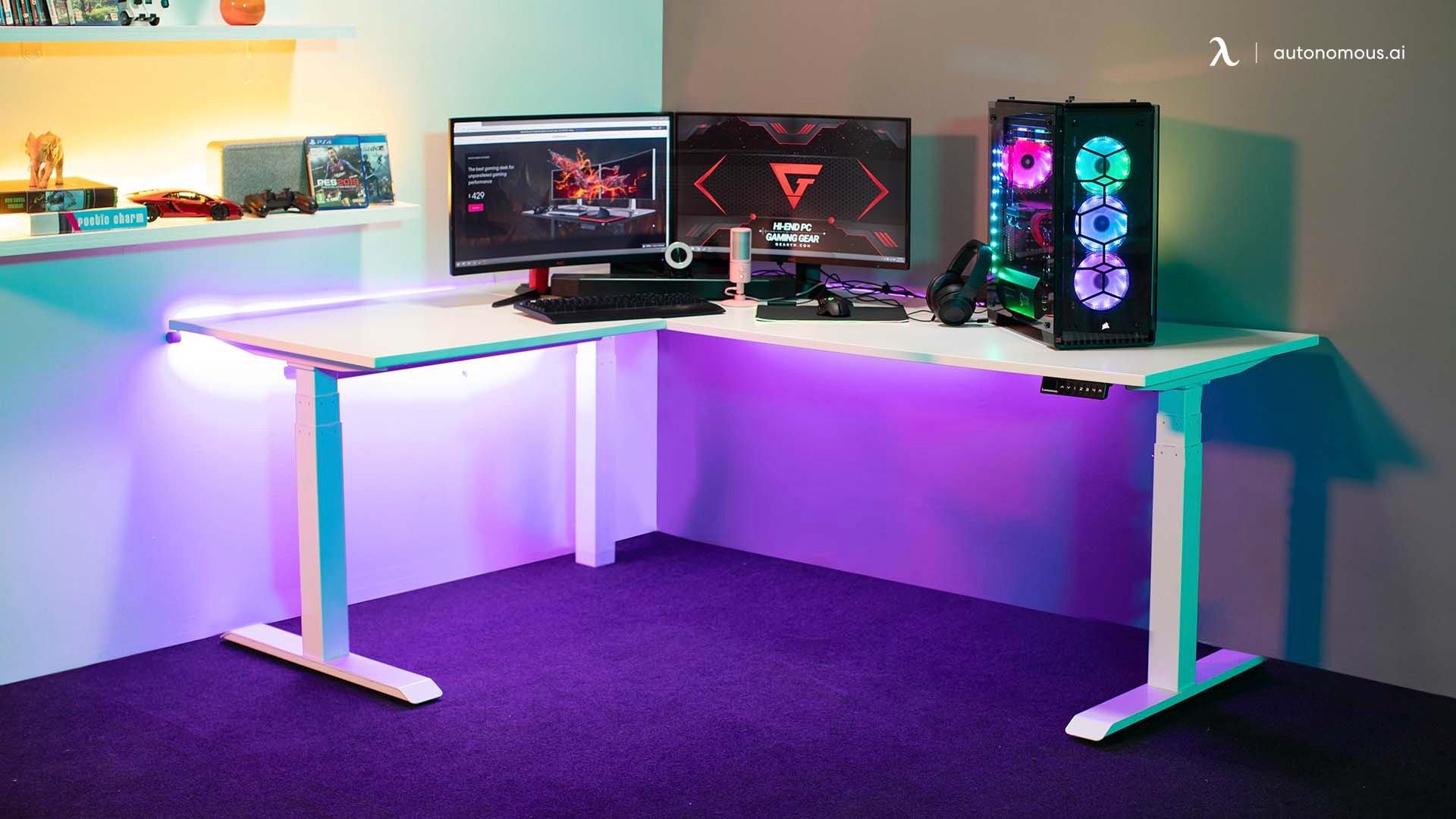 Developer standing desk, gaming standing desk