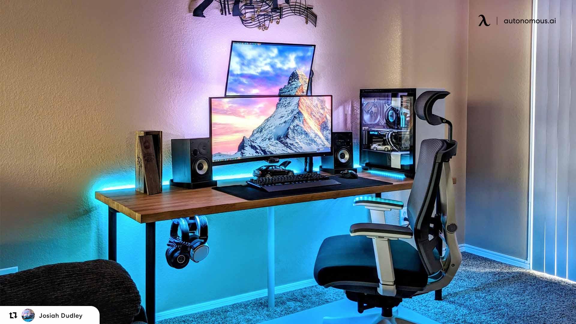 ergonomic chairs and standing desks