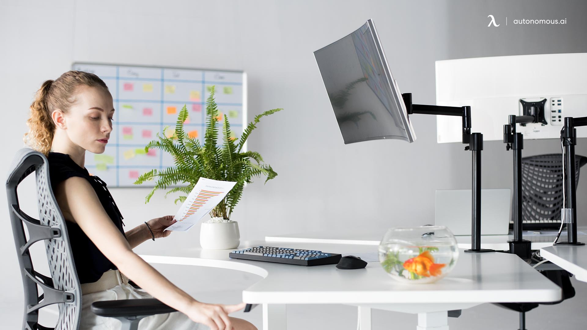 Use a monitor arm