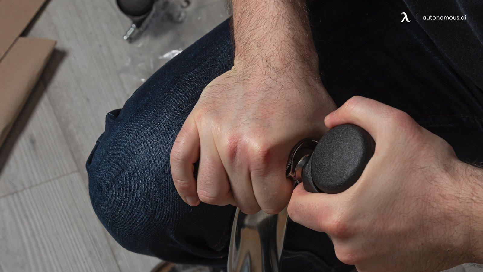 Fixing chair wheels