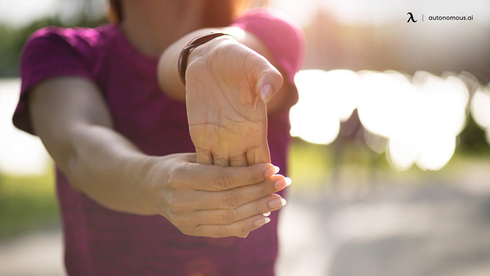 Stretching wrist