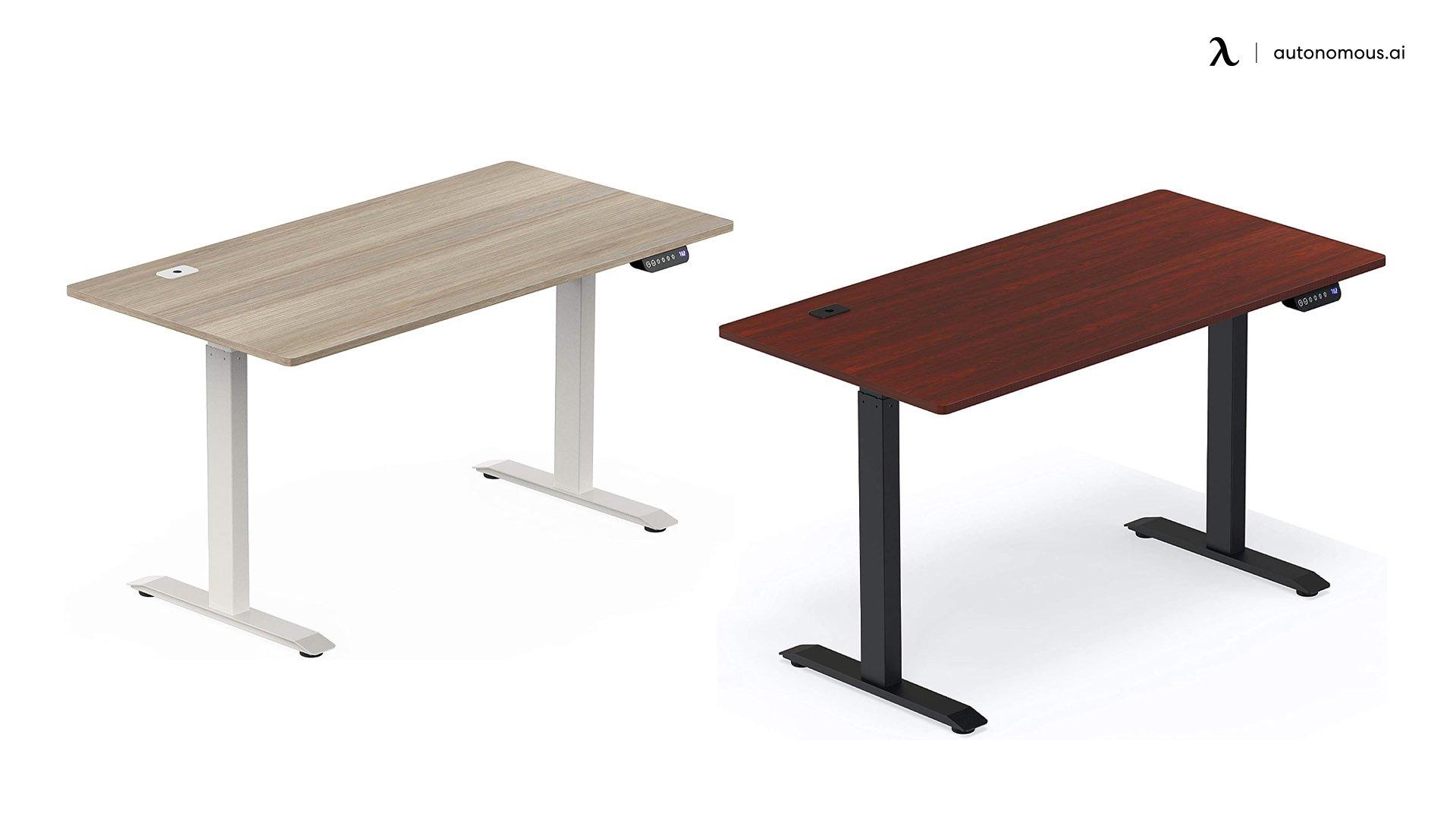 SHW Electric reclaimed wood Adjustable desk