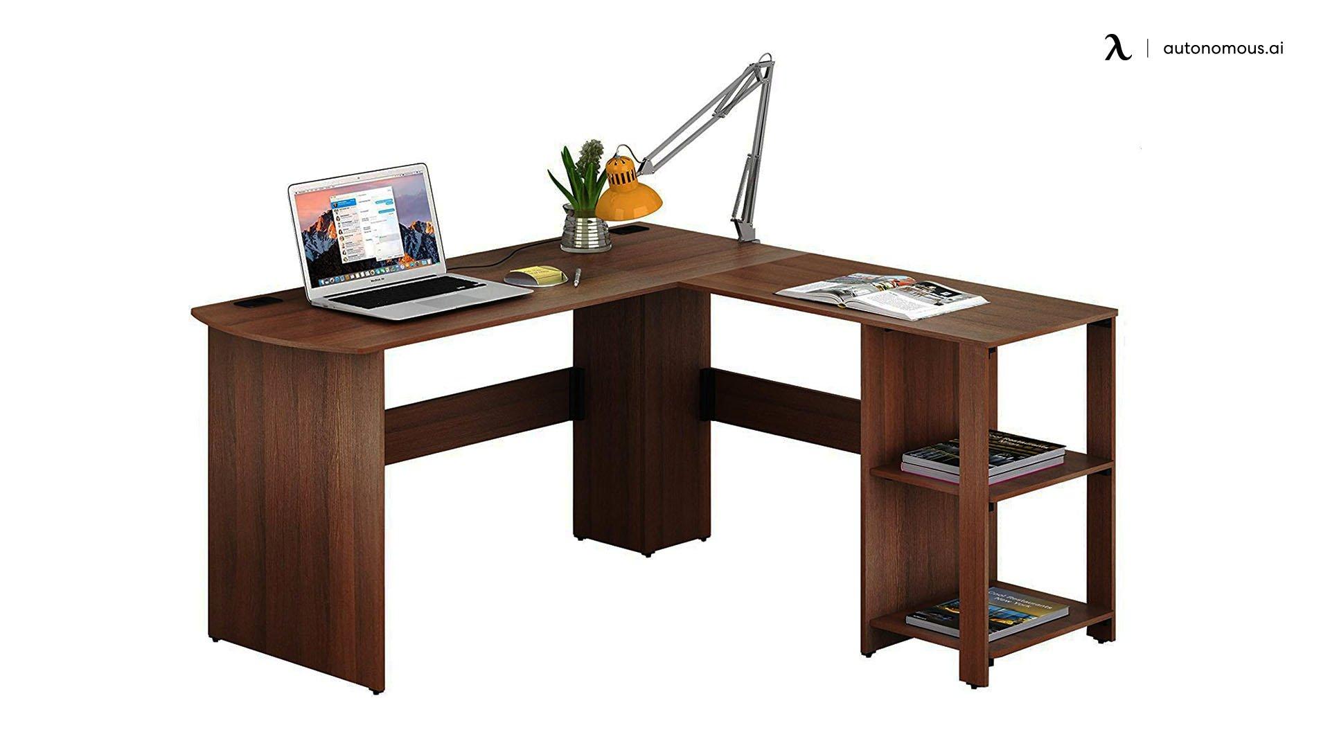 The SHW L-Shaped Home Office Wood Corner Desk