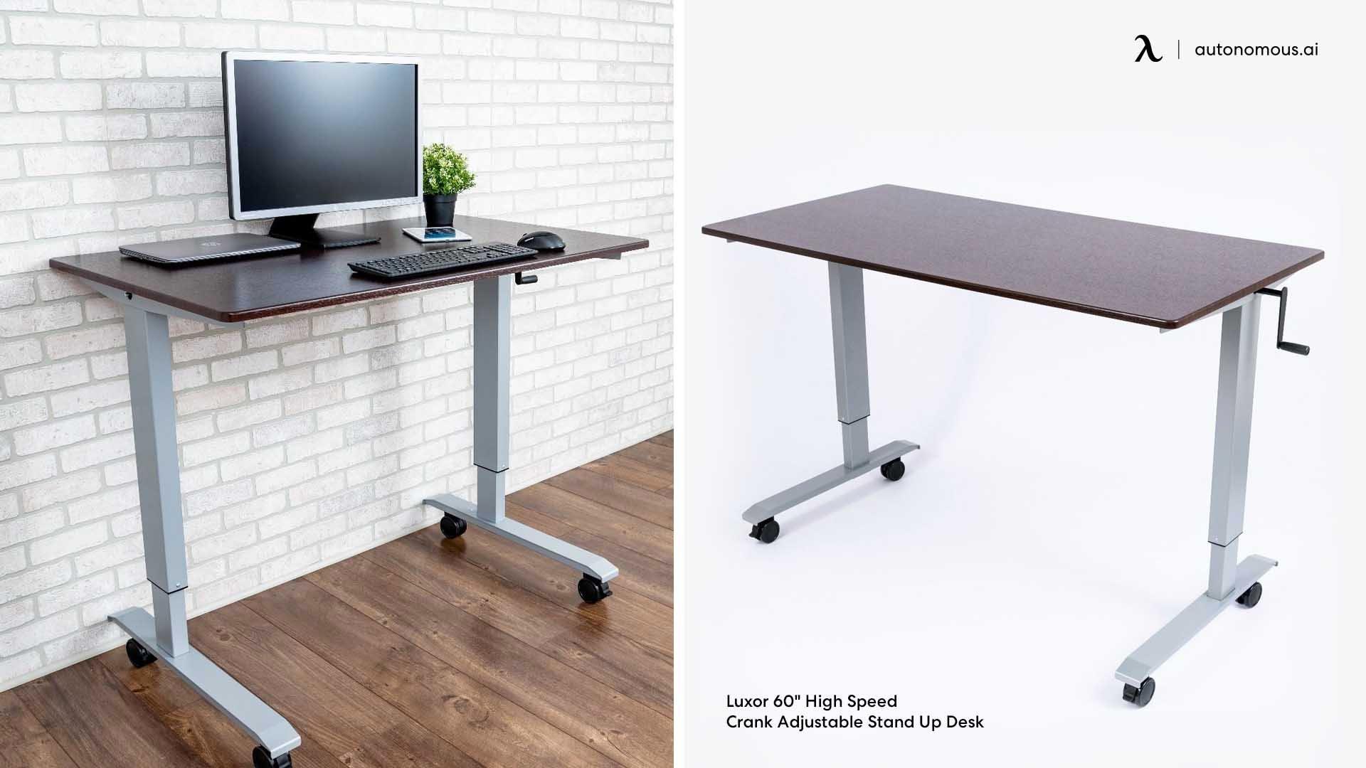 Hand crank standing desk