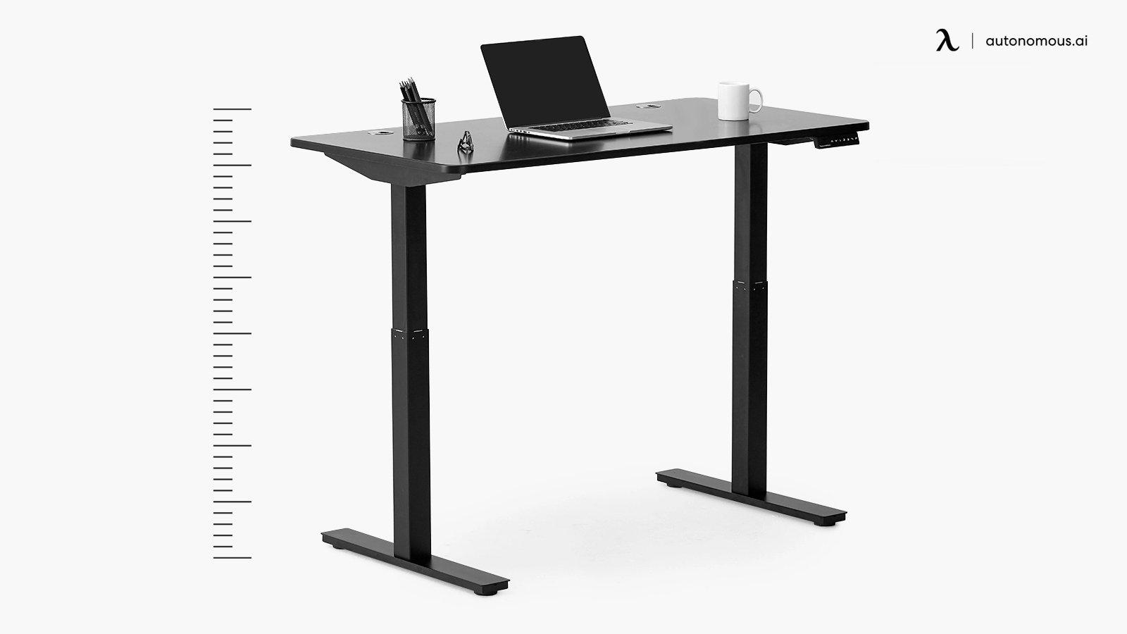 Measuring desk height