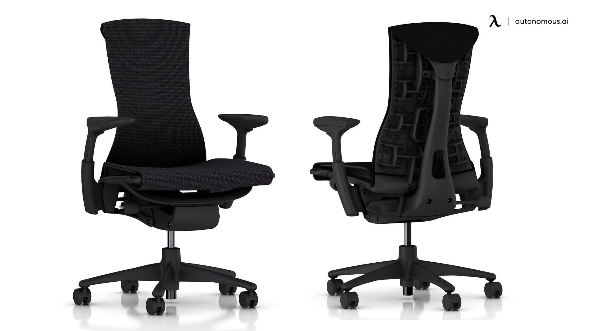 Embody black ergonomic mesh chair by herman