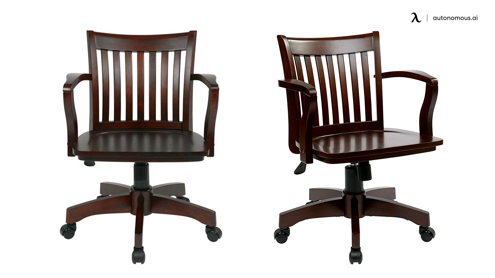 The OSP Home Furnishings Deluxe Wood Bankers desk chair