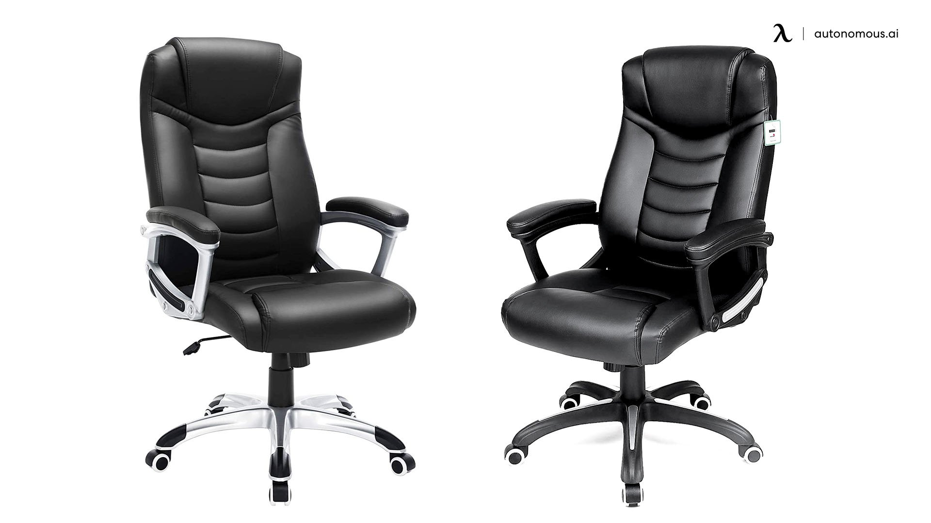 Black Ergonomic Office Chair with Casters - Songmics