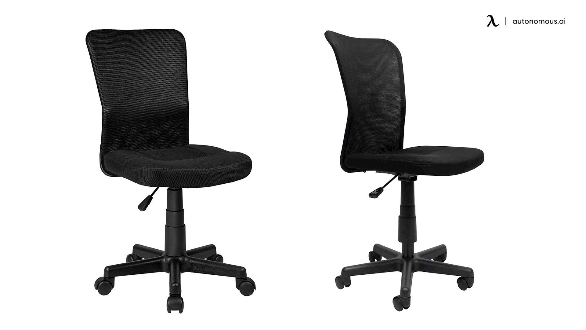 Black Ergonomic Chair Armless - TecTake
