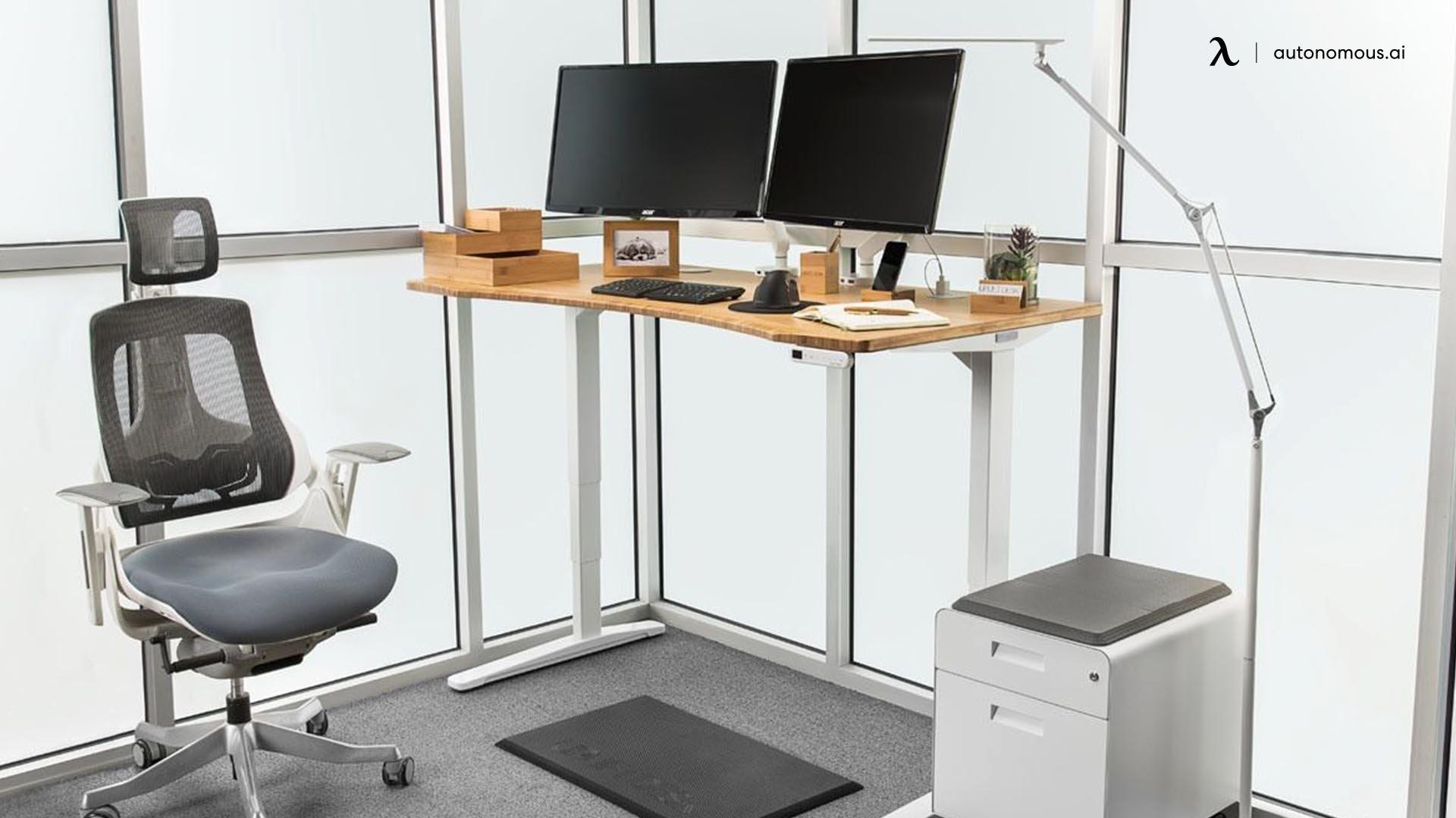 The UPLIFT Bamboo Standing desk
