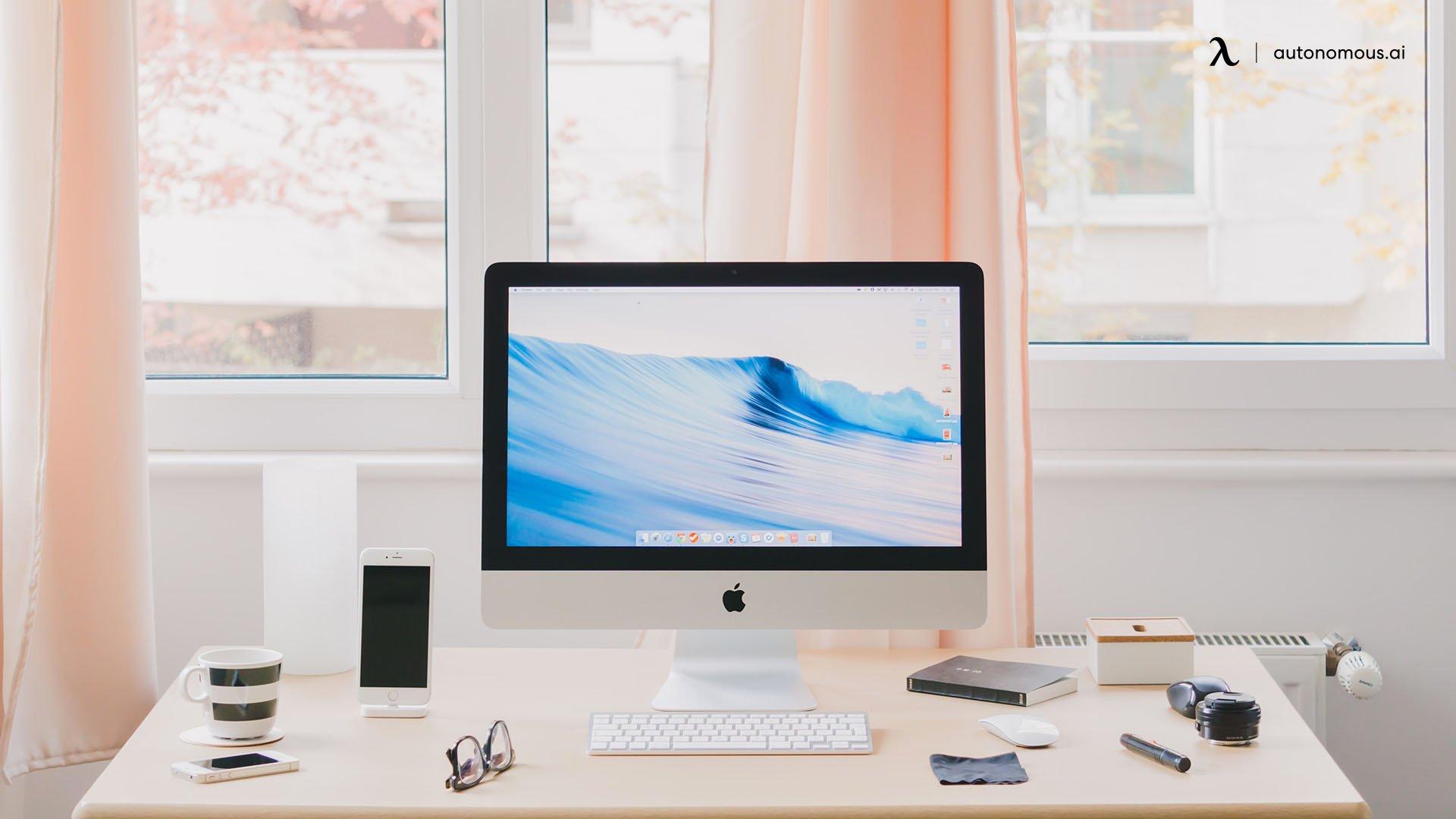 Consider a smaller desk