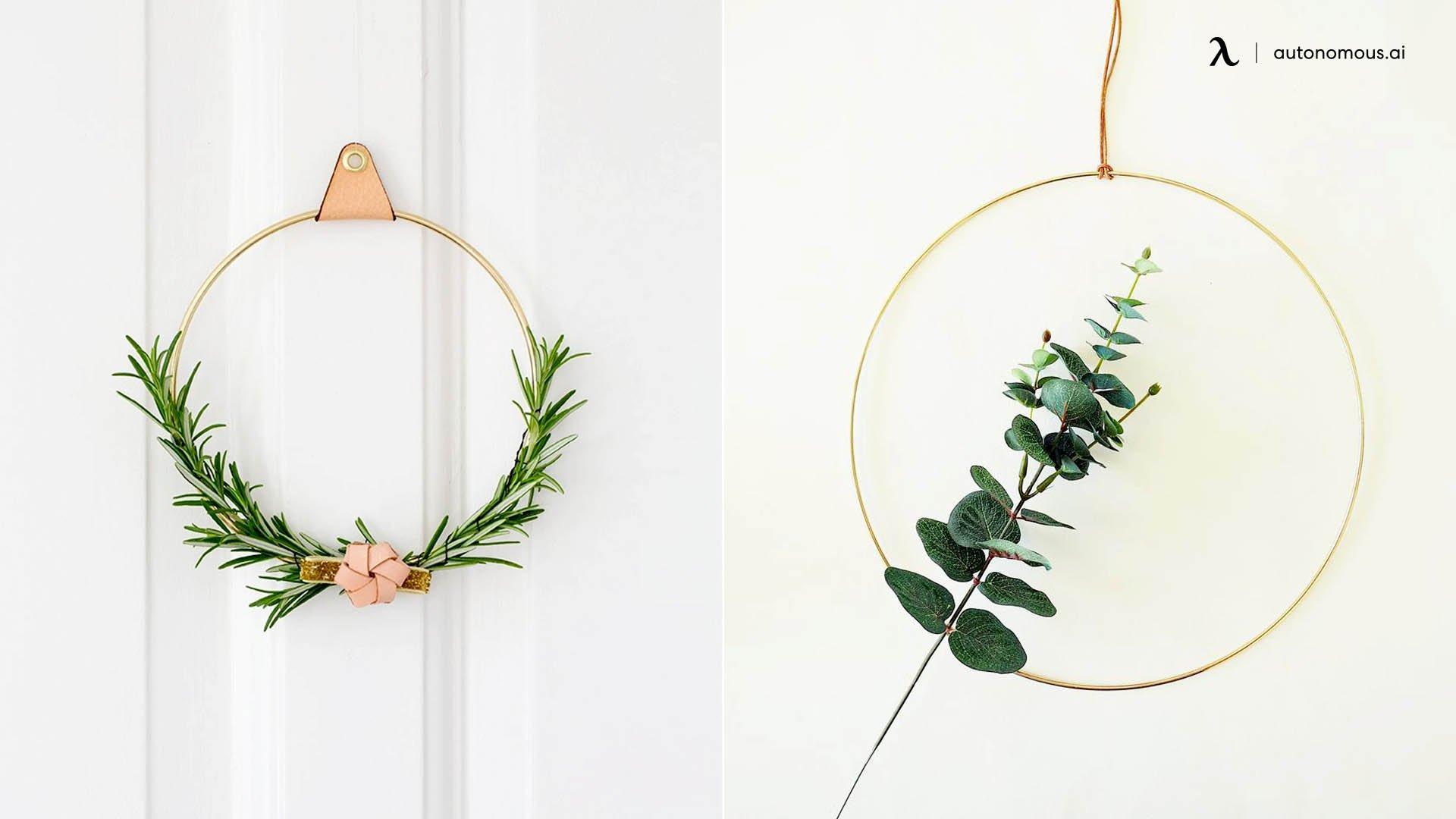 brass ring wreath