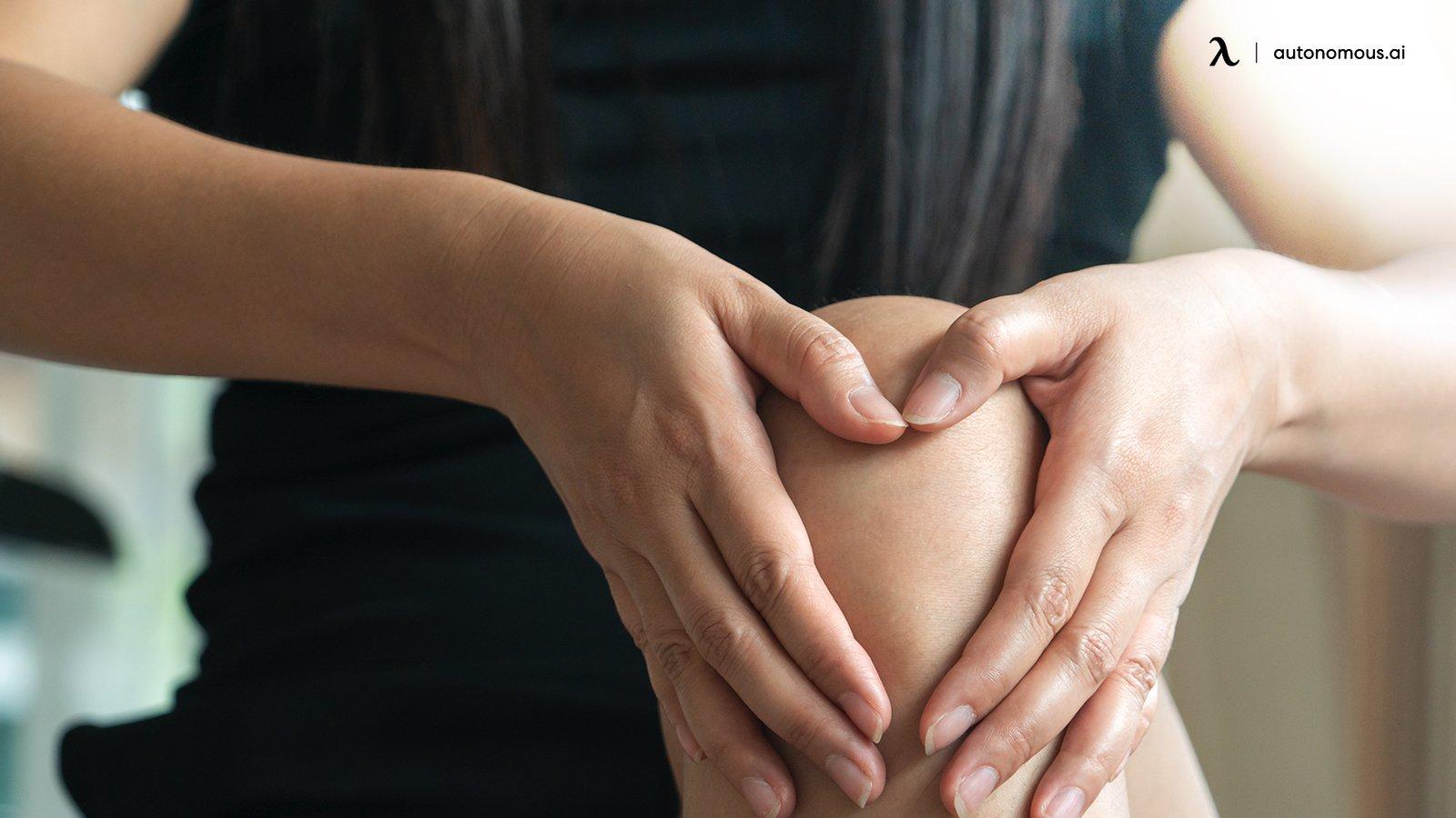 Knee pain in office