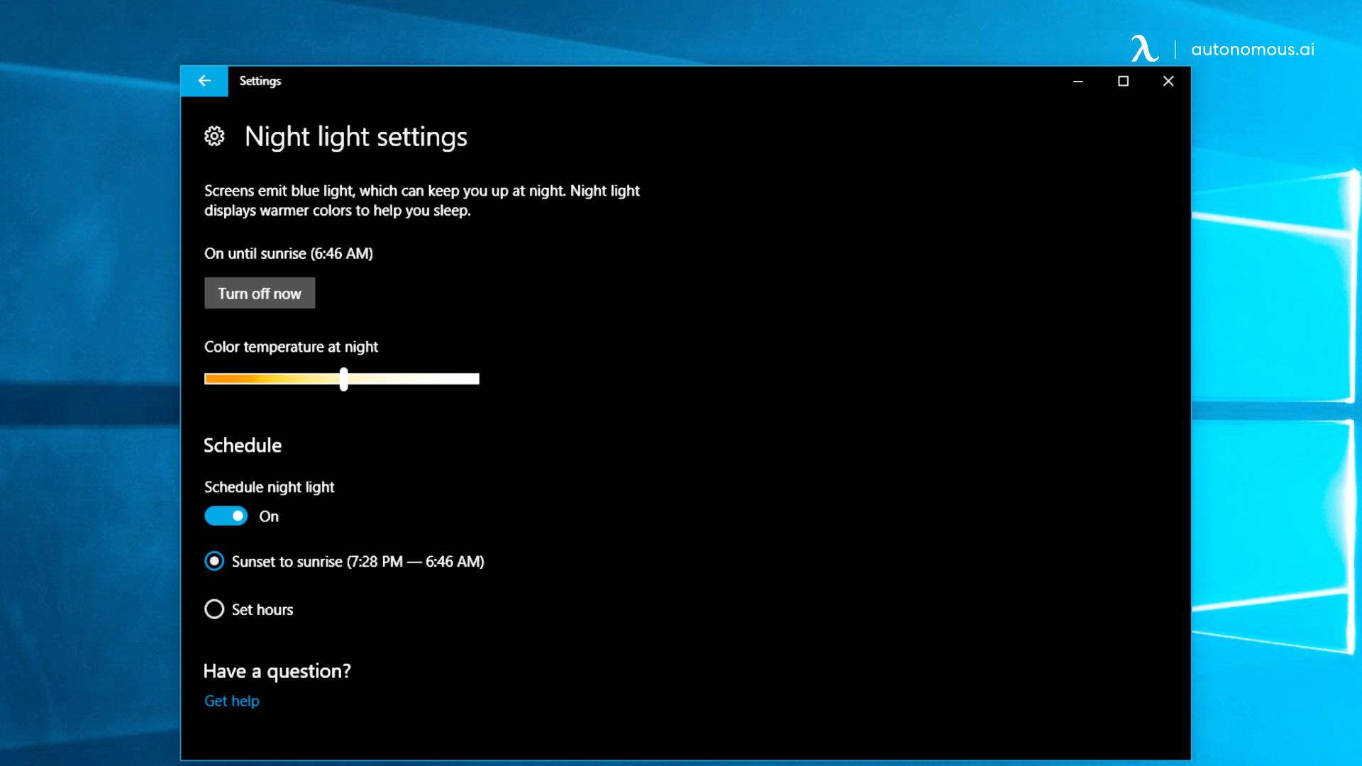 Adjust your screen settings