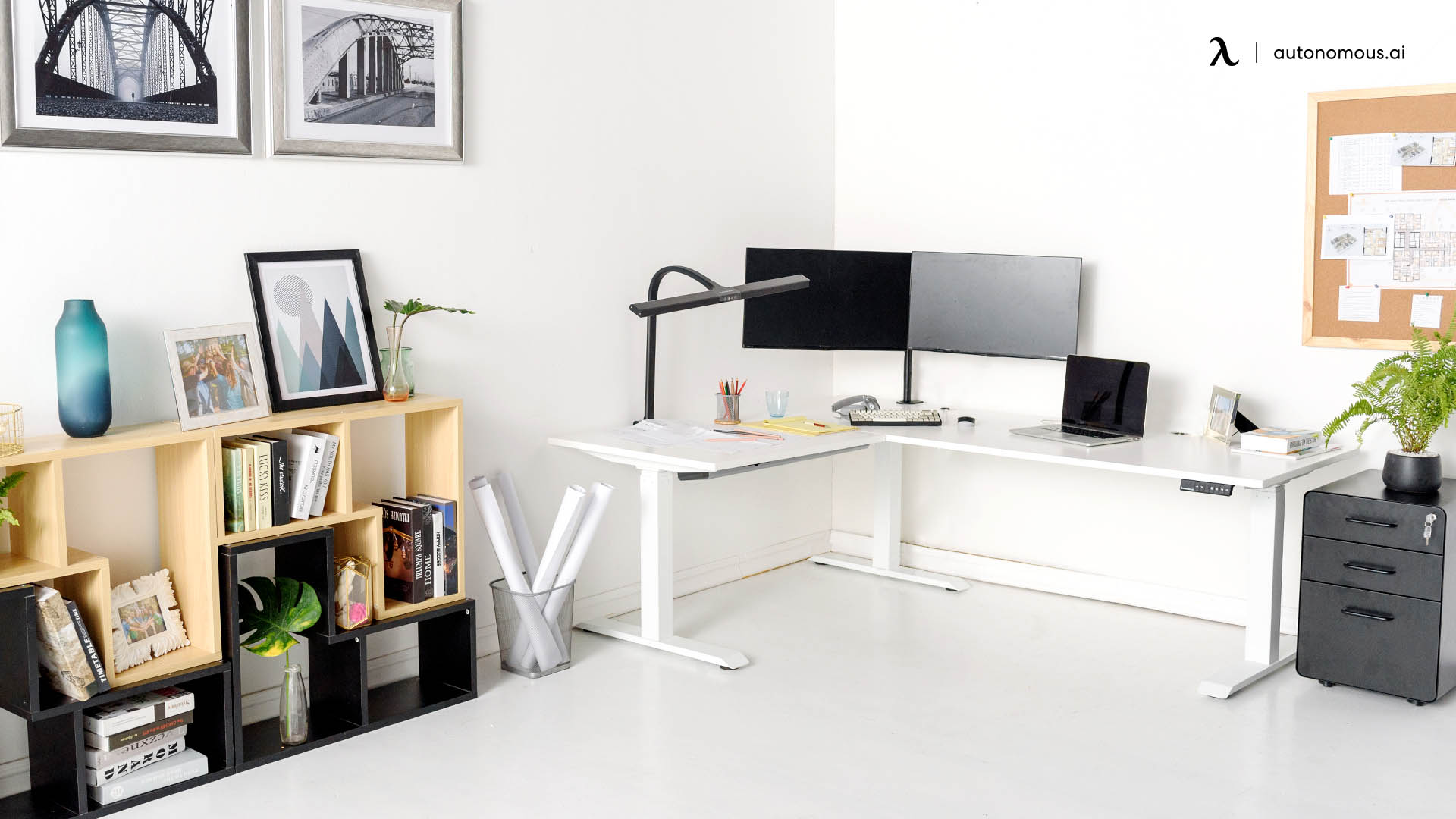 L-Shaped Desk Increases Your Office Space