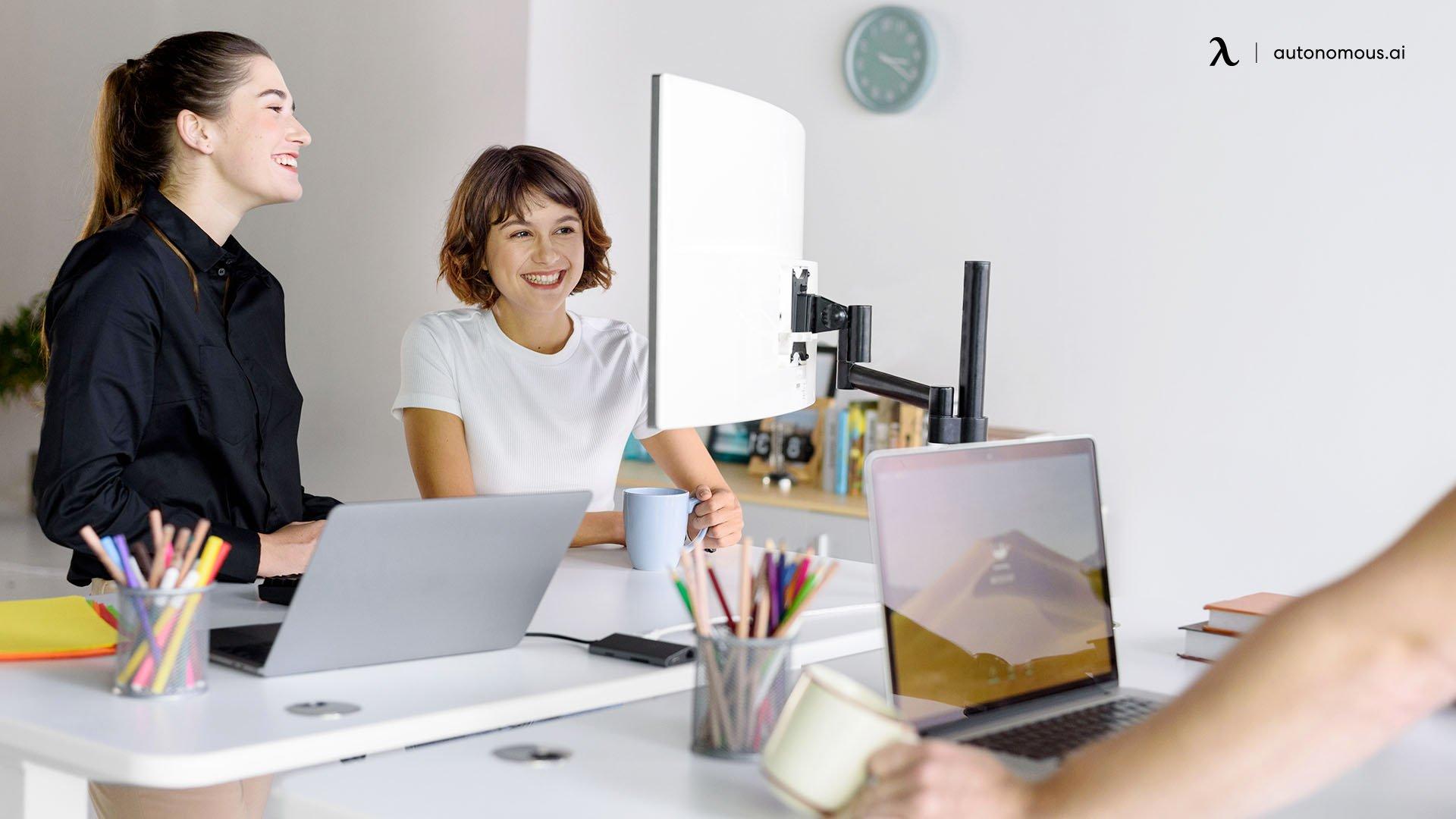 Mental health benefit of standing desk
