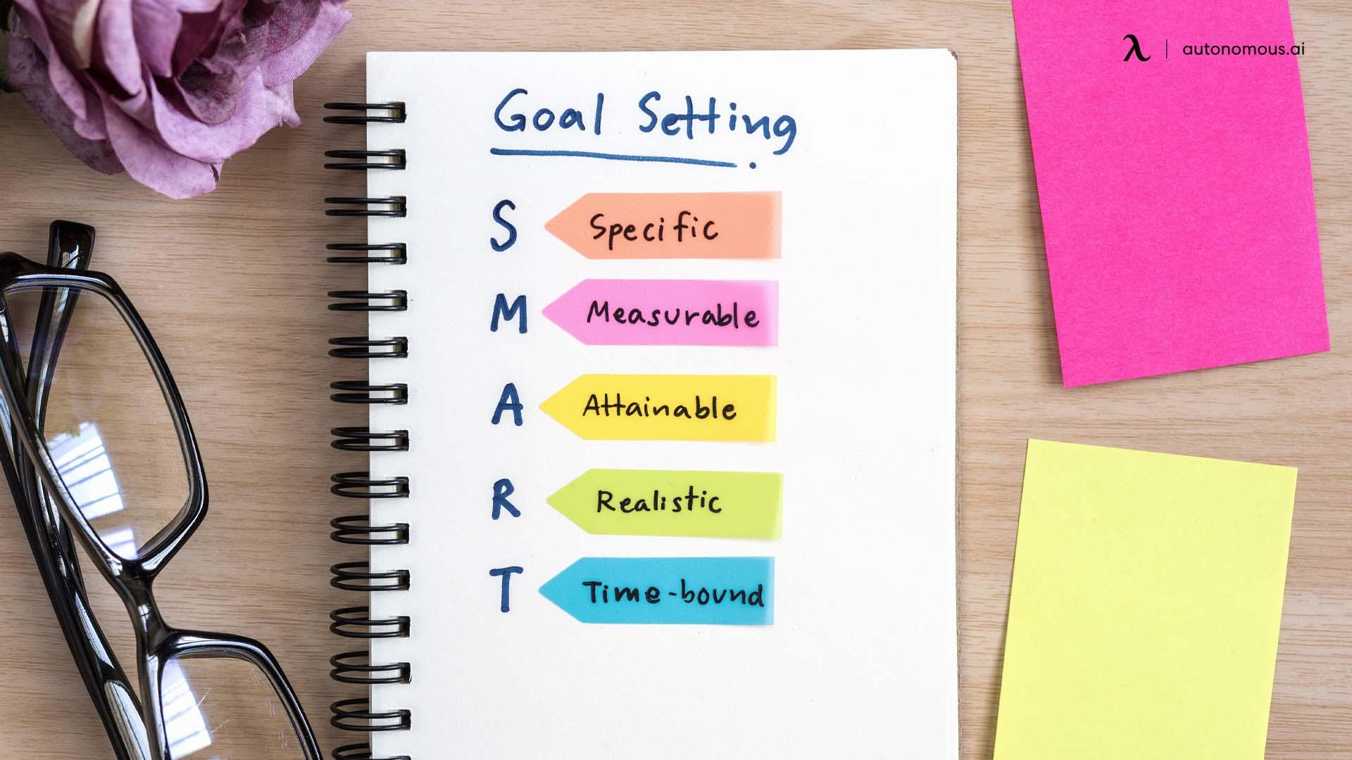 Define new year goals