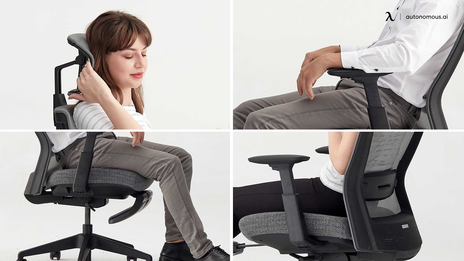Customizable office chair with headrest