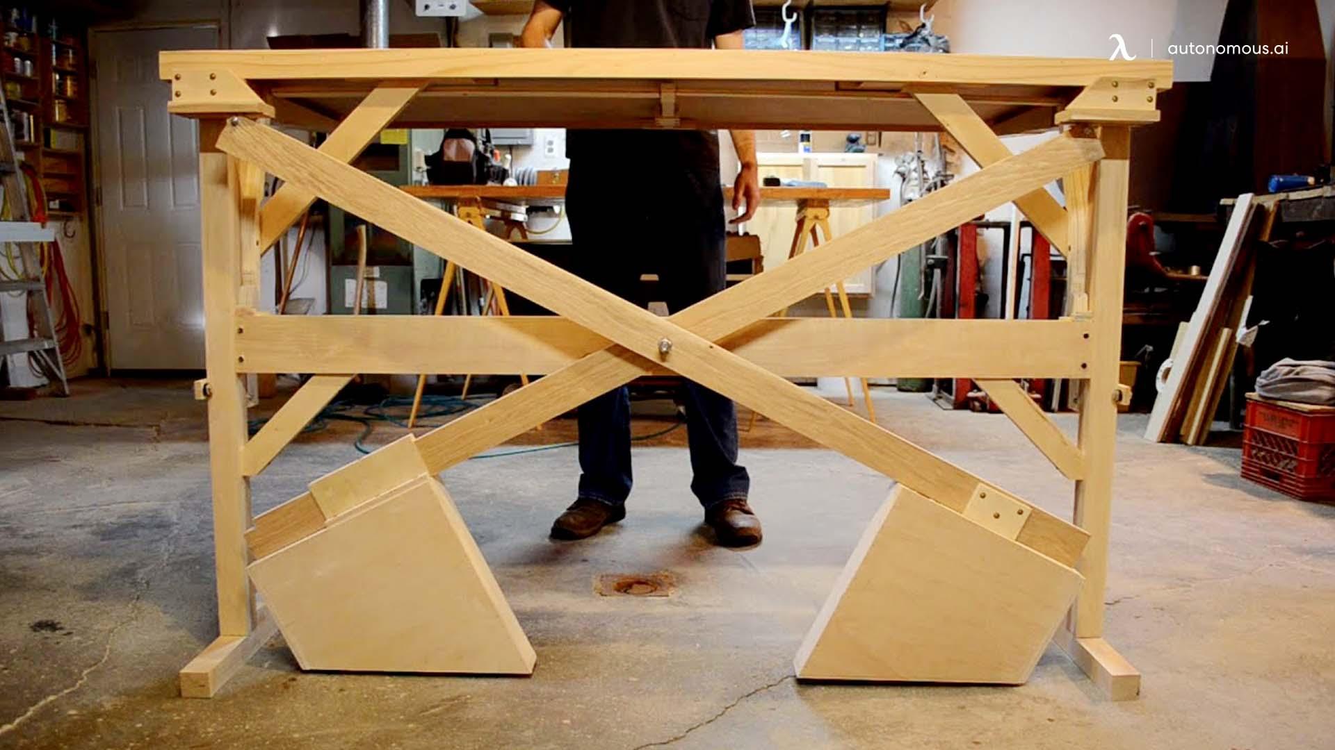 Cross counterweight standing desk Idea