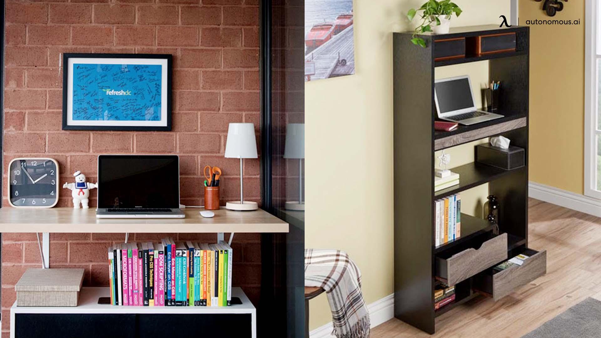 Bookcase standing desk