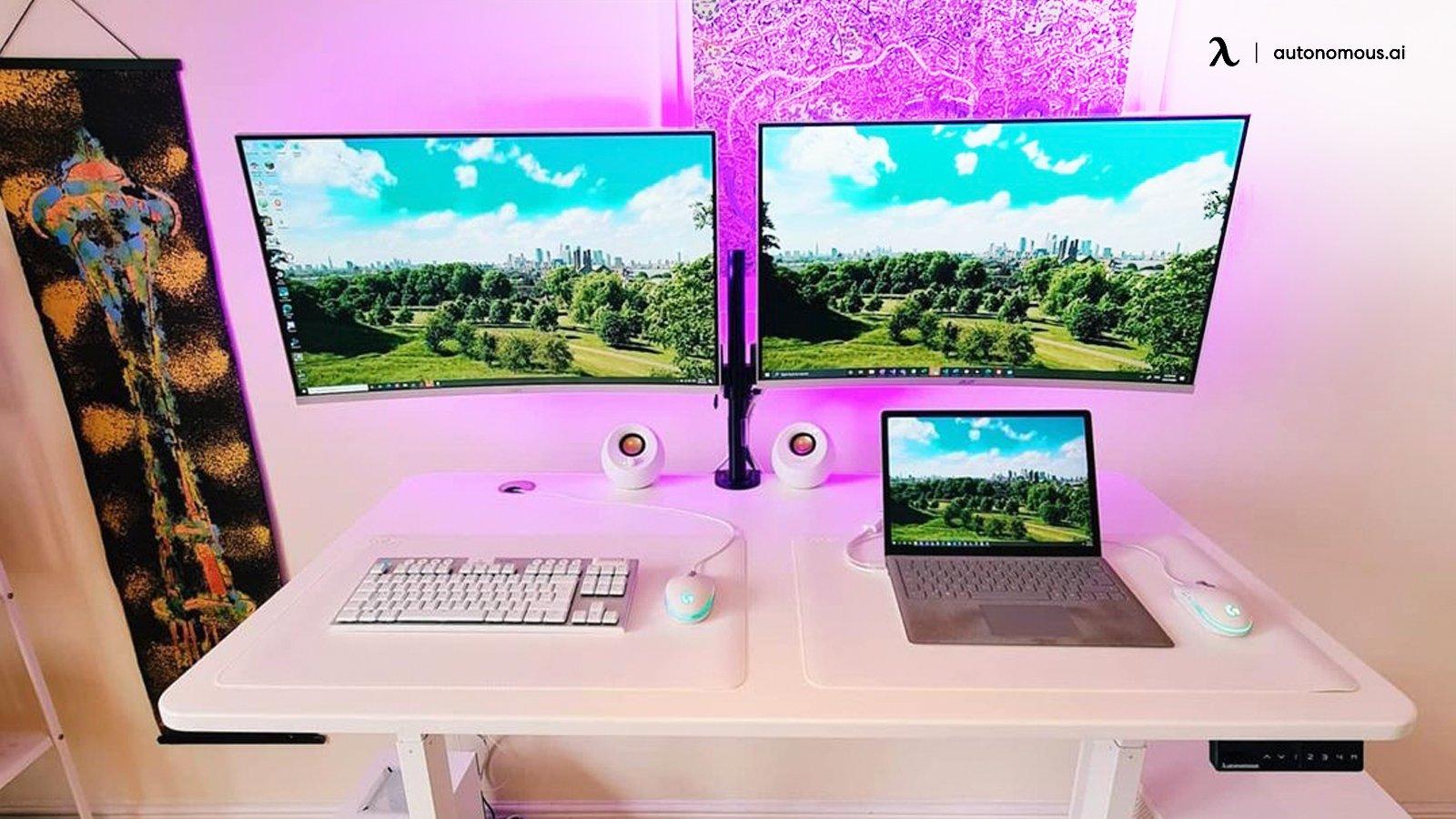 Standing desk example