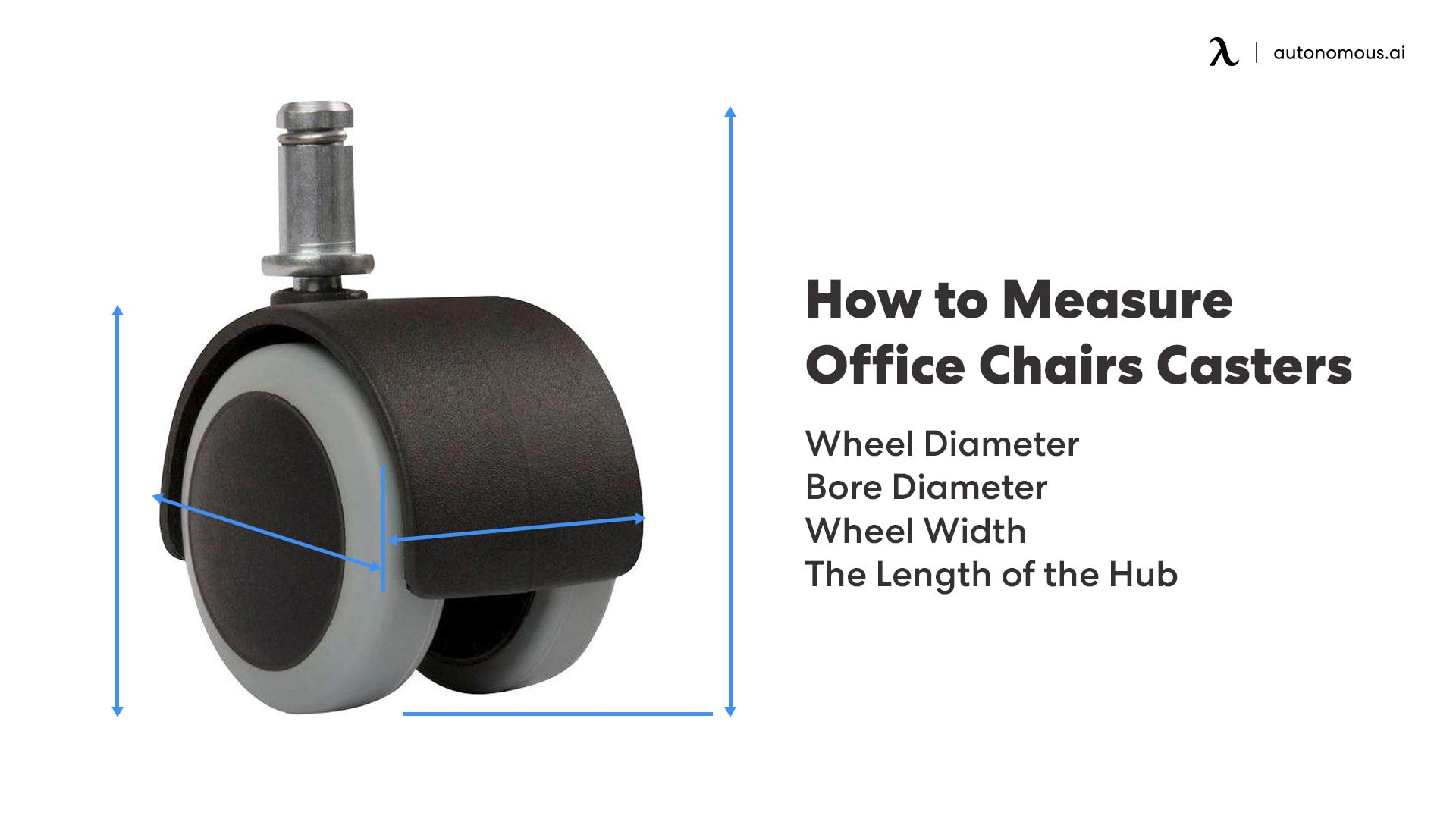 How to measure office chairs casters