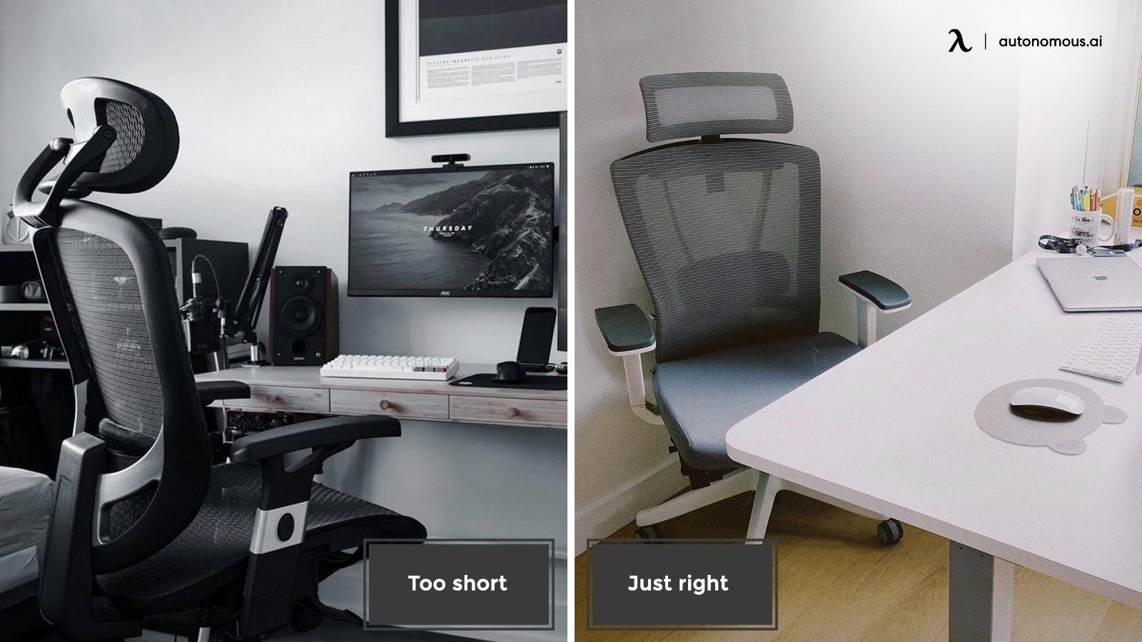 Compare regular desk to standing