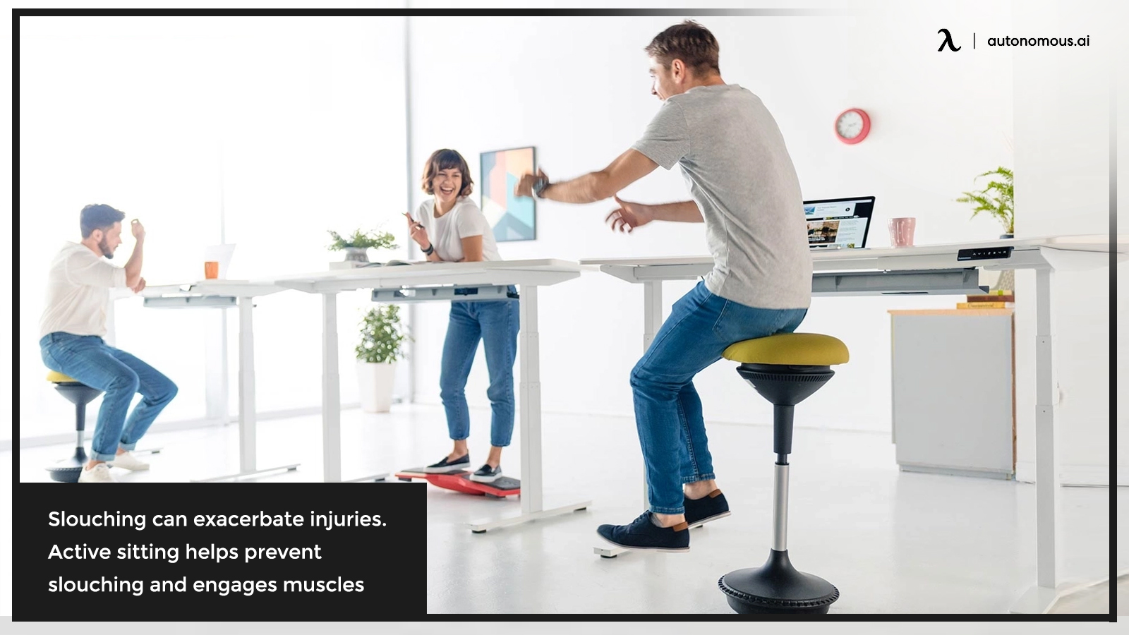 Slouching and active sitting