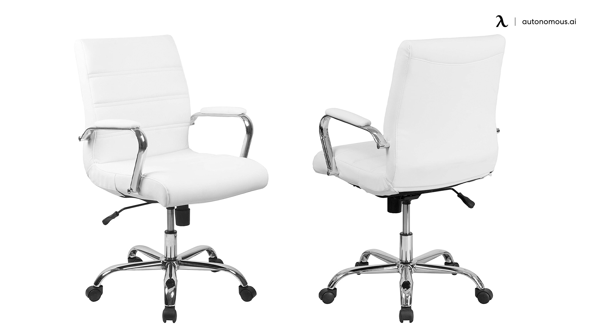 Flash Furniture Mid-back White LeatherSoft Office Chair