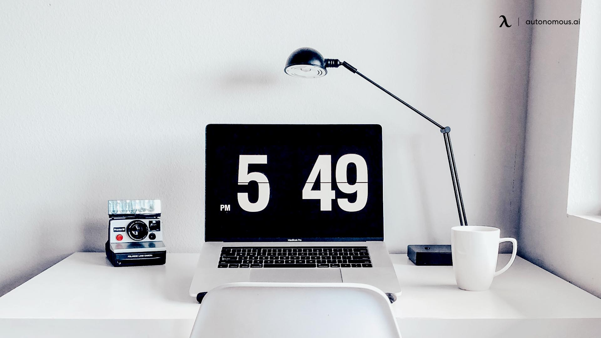 Office design with desk lamp