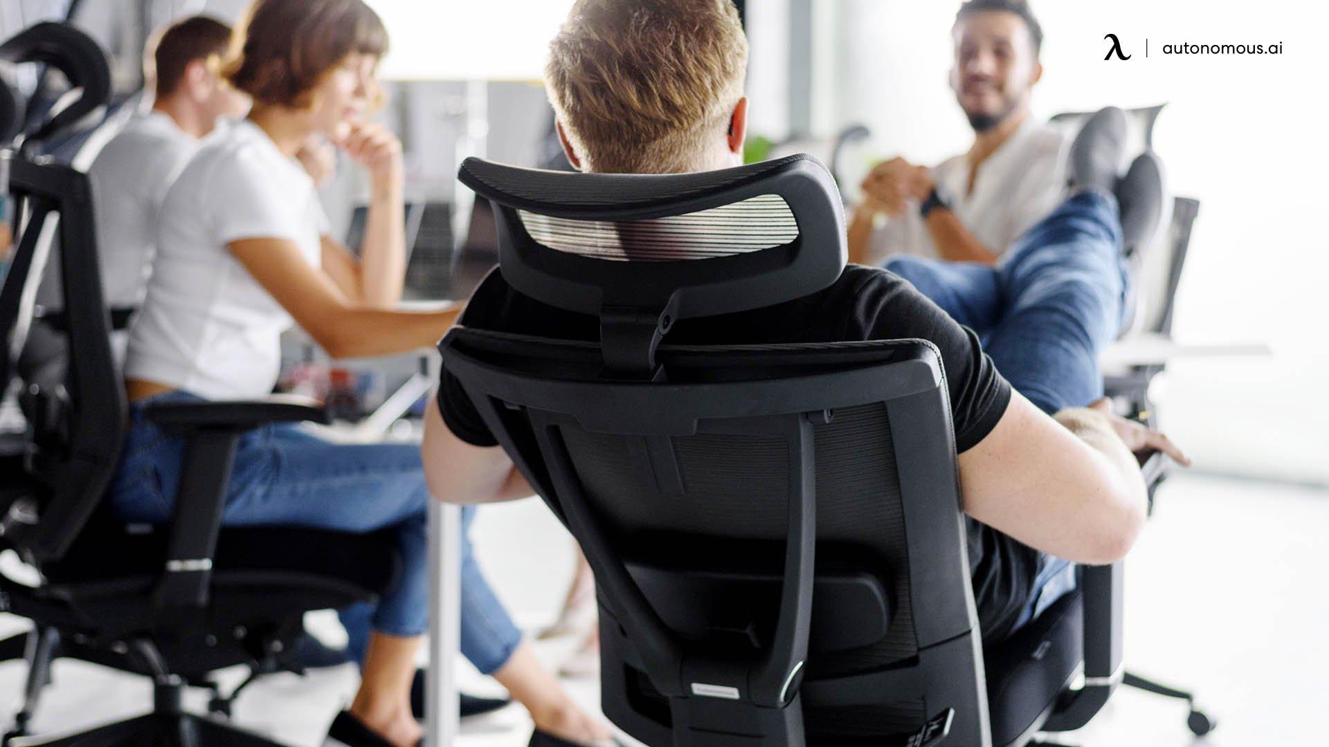 Backrest & headrest of office chair