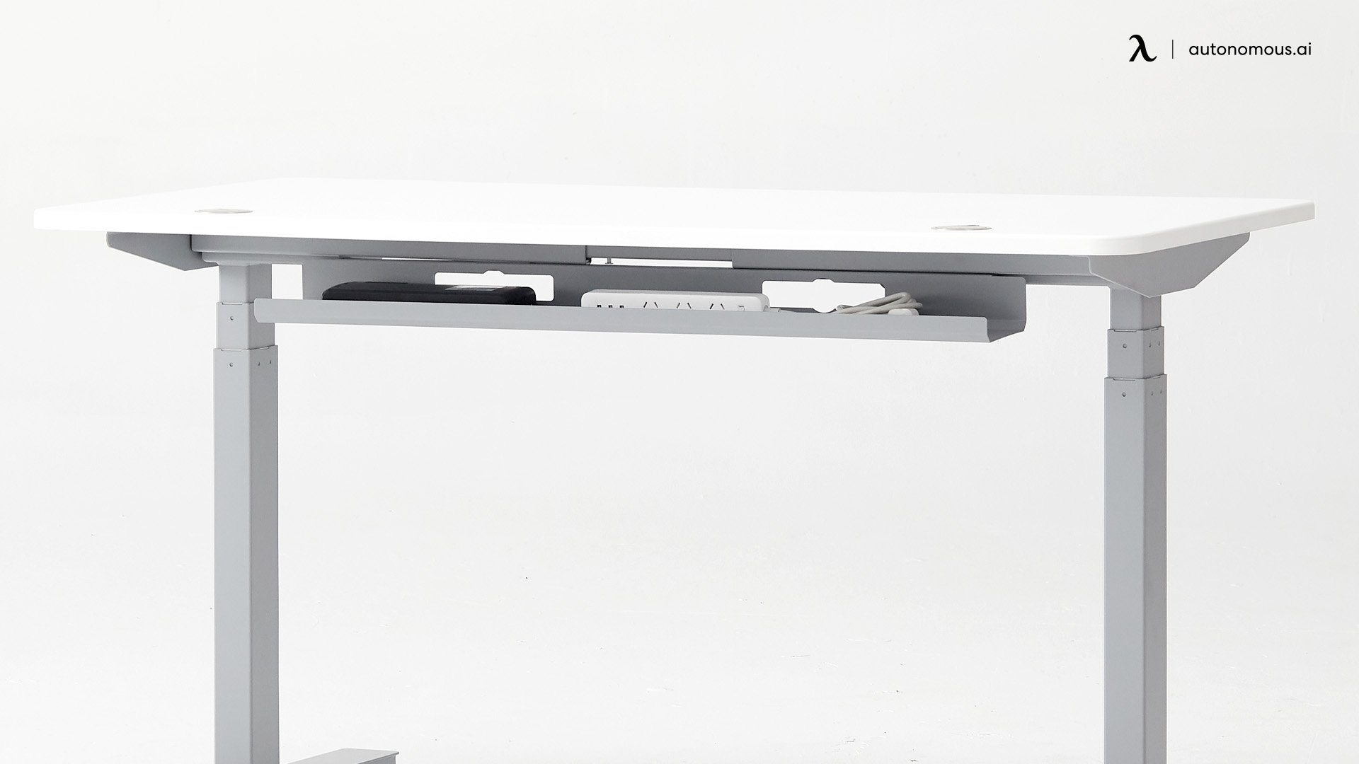 Standing desk cable tray