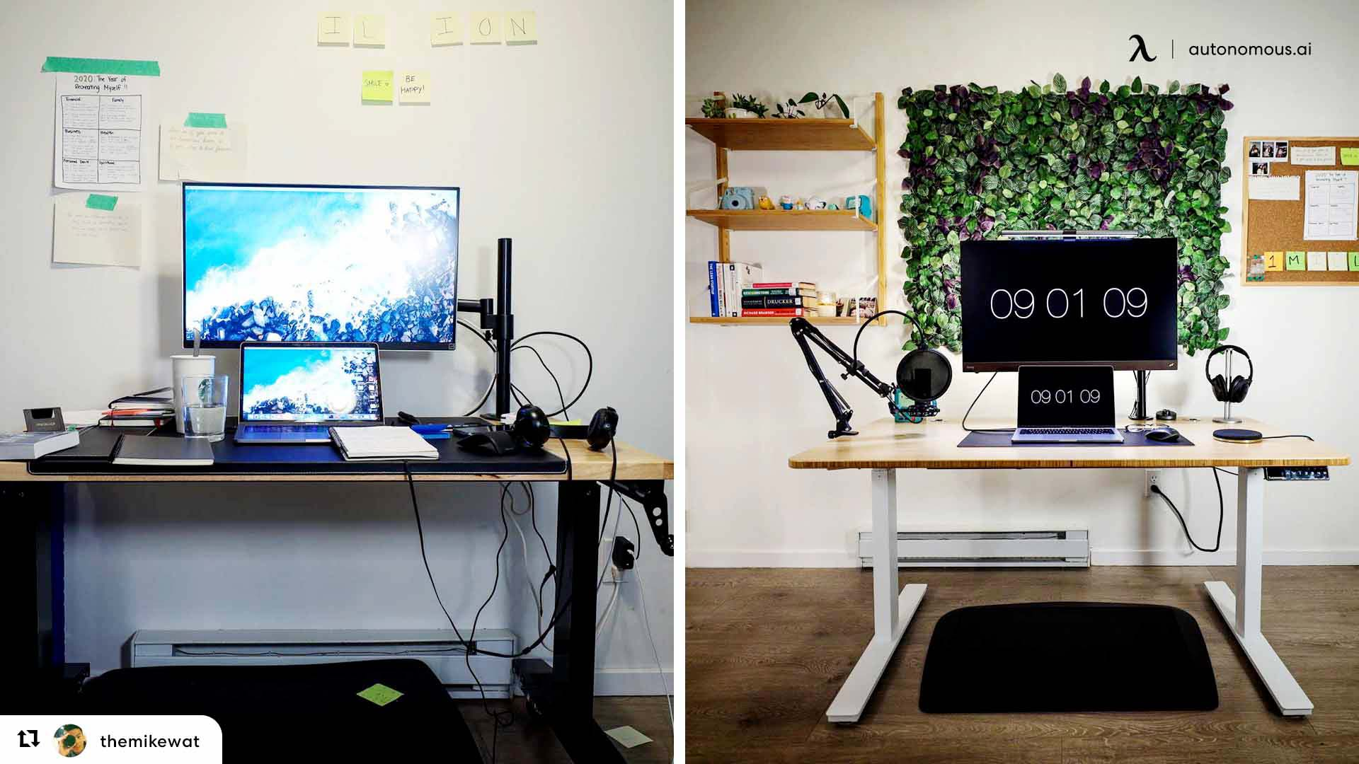 Use standing desk properly with cable management tip
