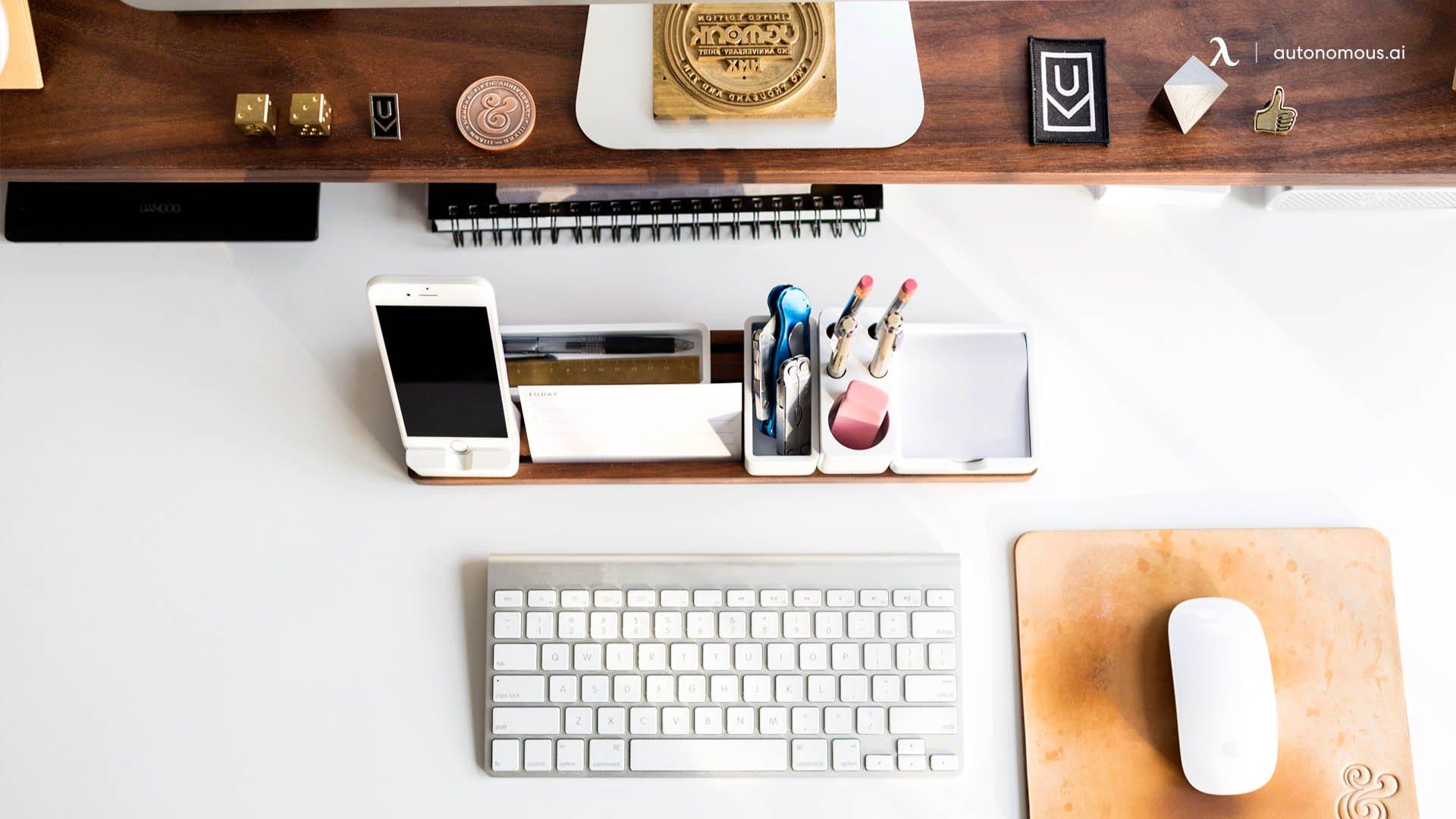 Invest in Desk Organizers.