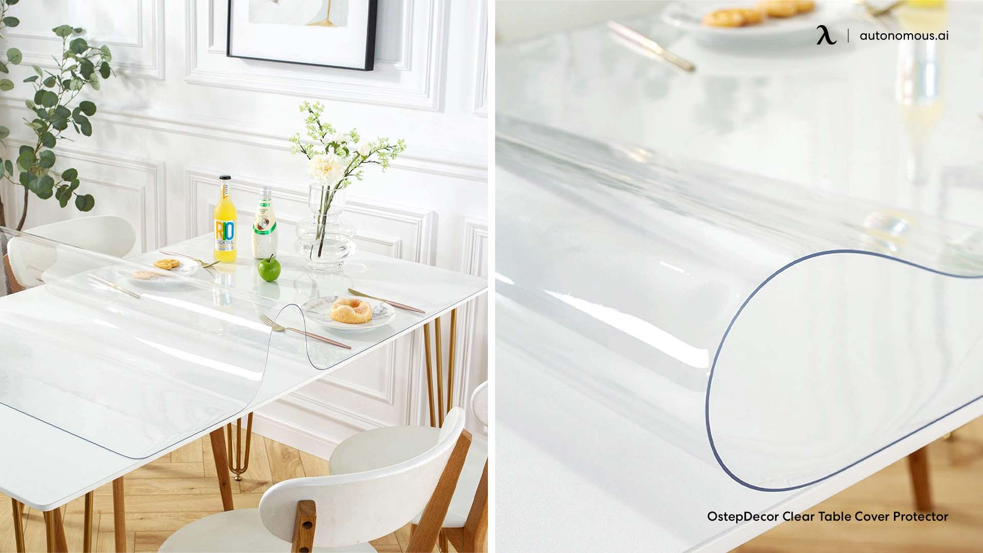 Clear glass desk cover