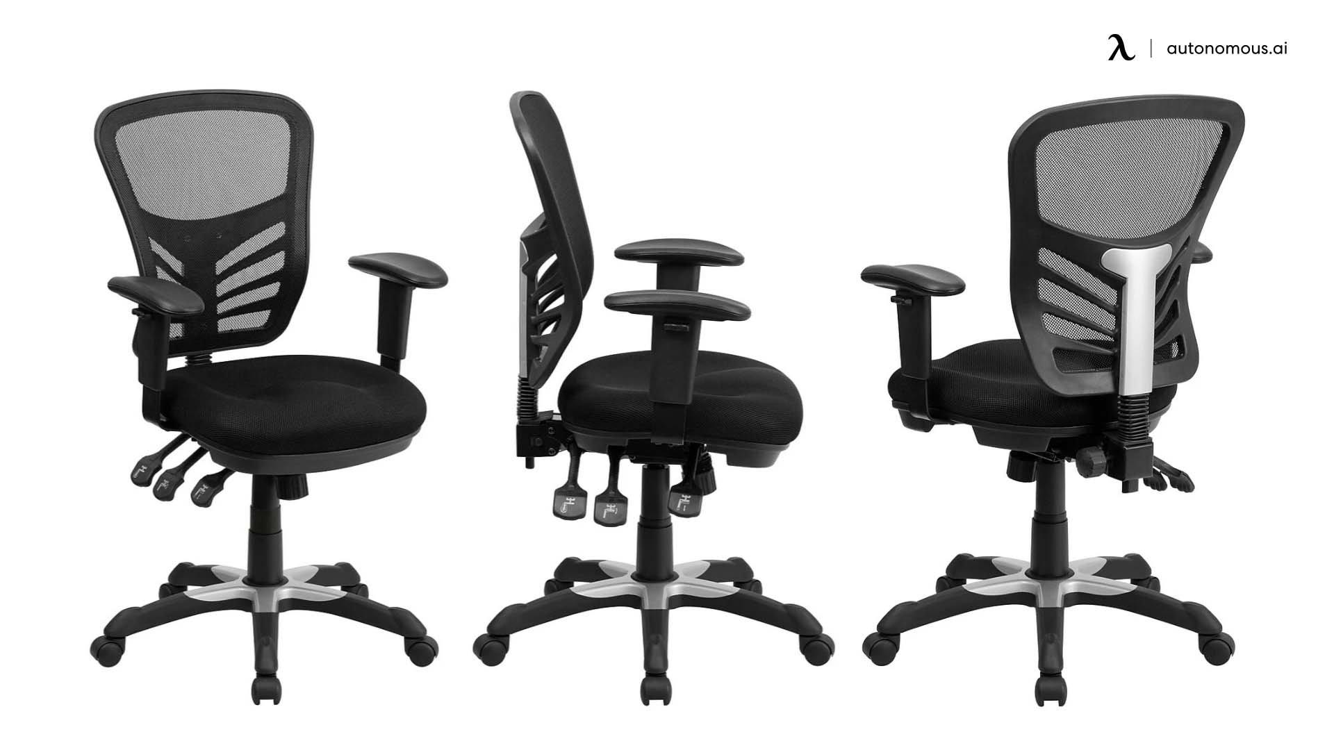 BizChair Mid-Back Mesh Multifunction Executive Swivel Ergonomic Office Chair