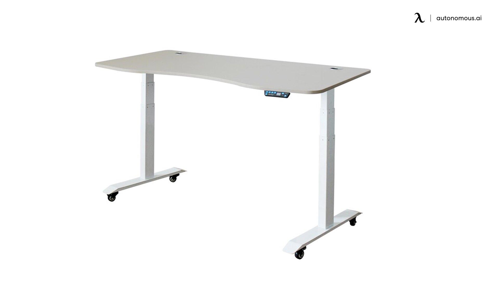 Letcher Adjustable white standing desk