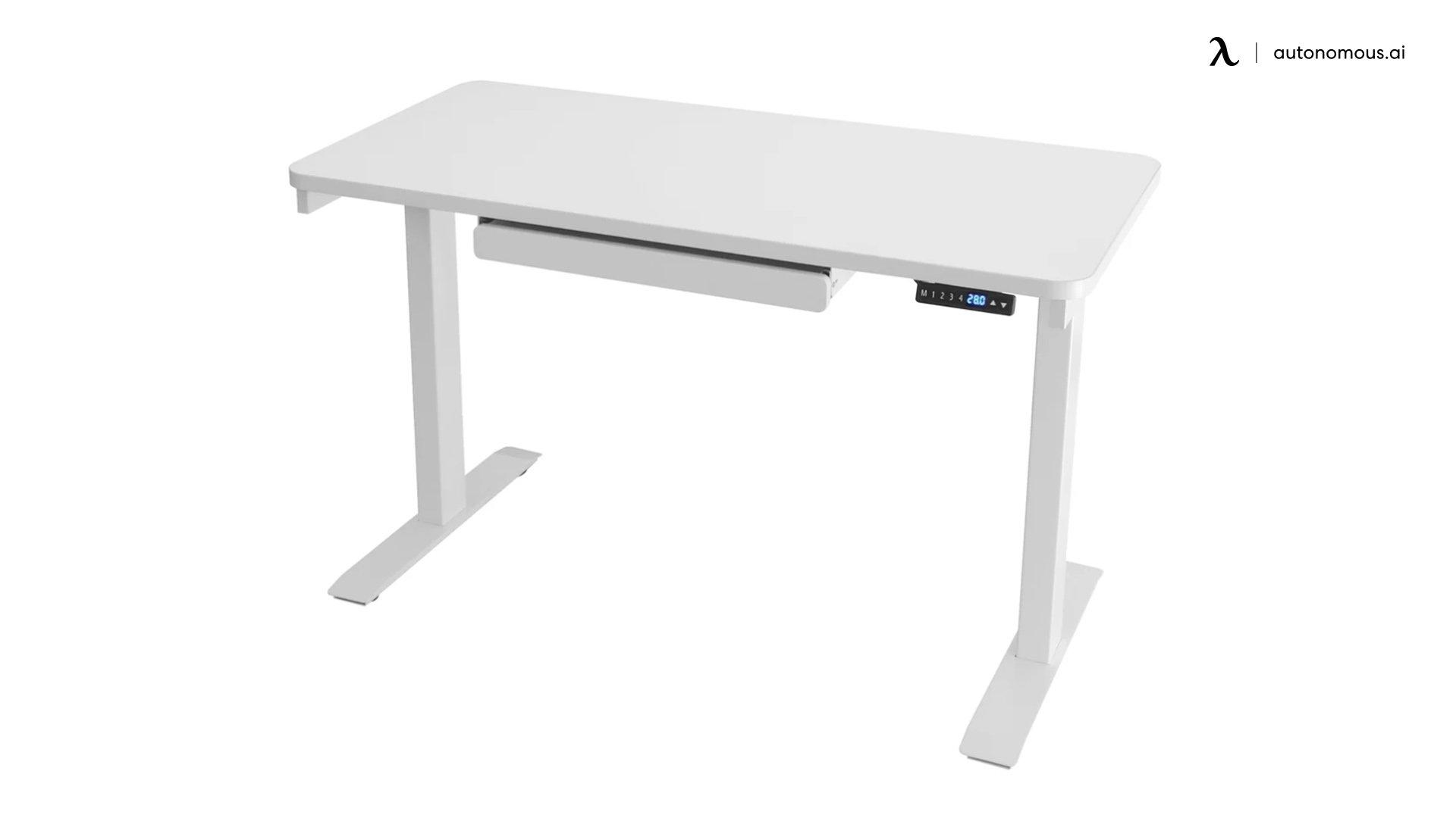 Sabine White Adjustable Desk