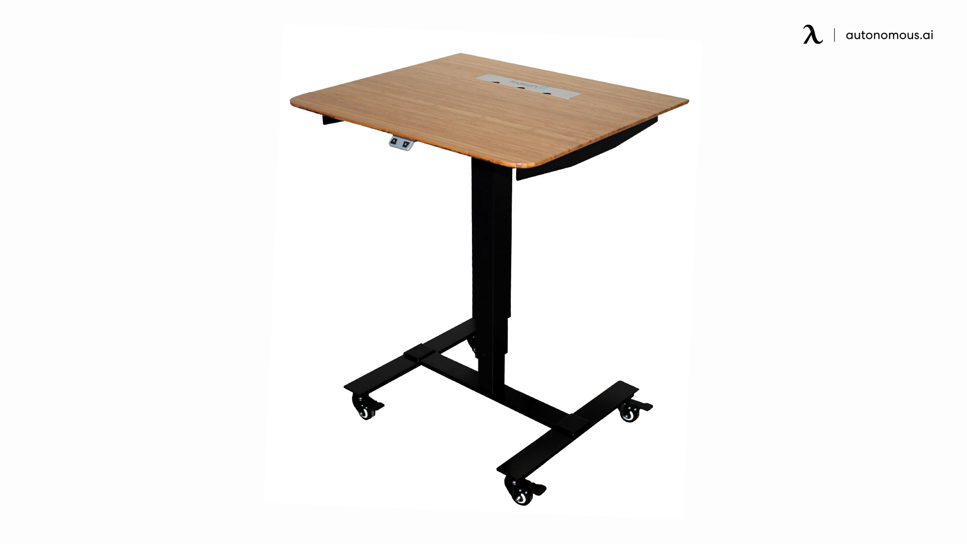 Bamboo Adjustable Desk by Frasch