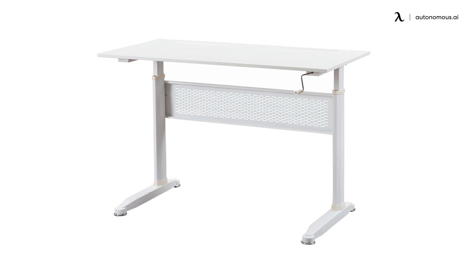 Collegedale Rectangular white standing desk
