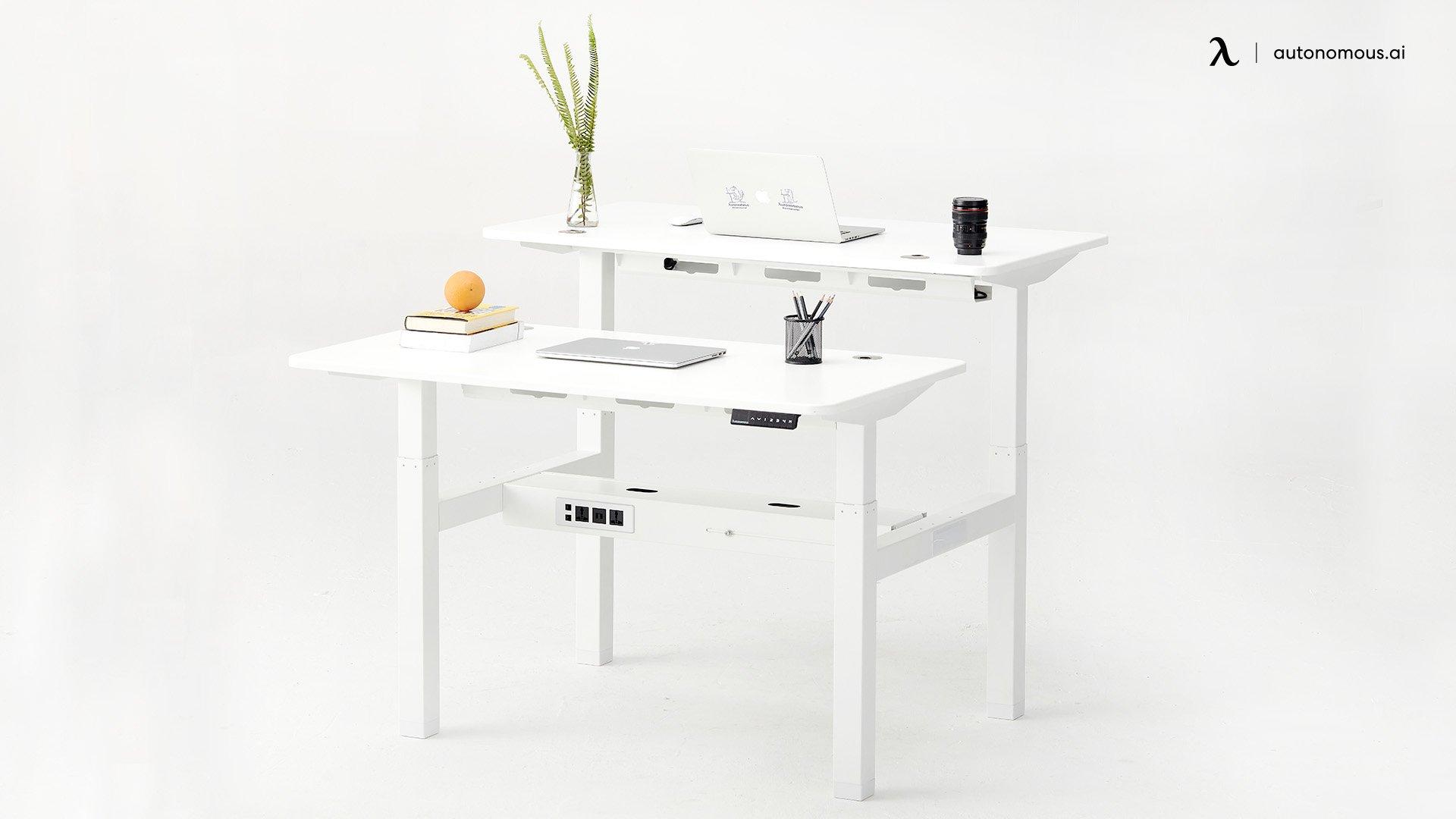White Double Desk from Autonomous