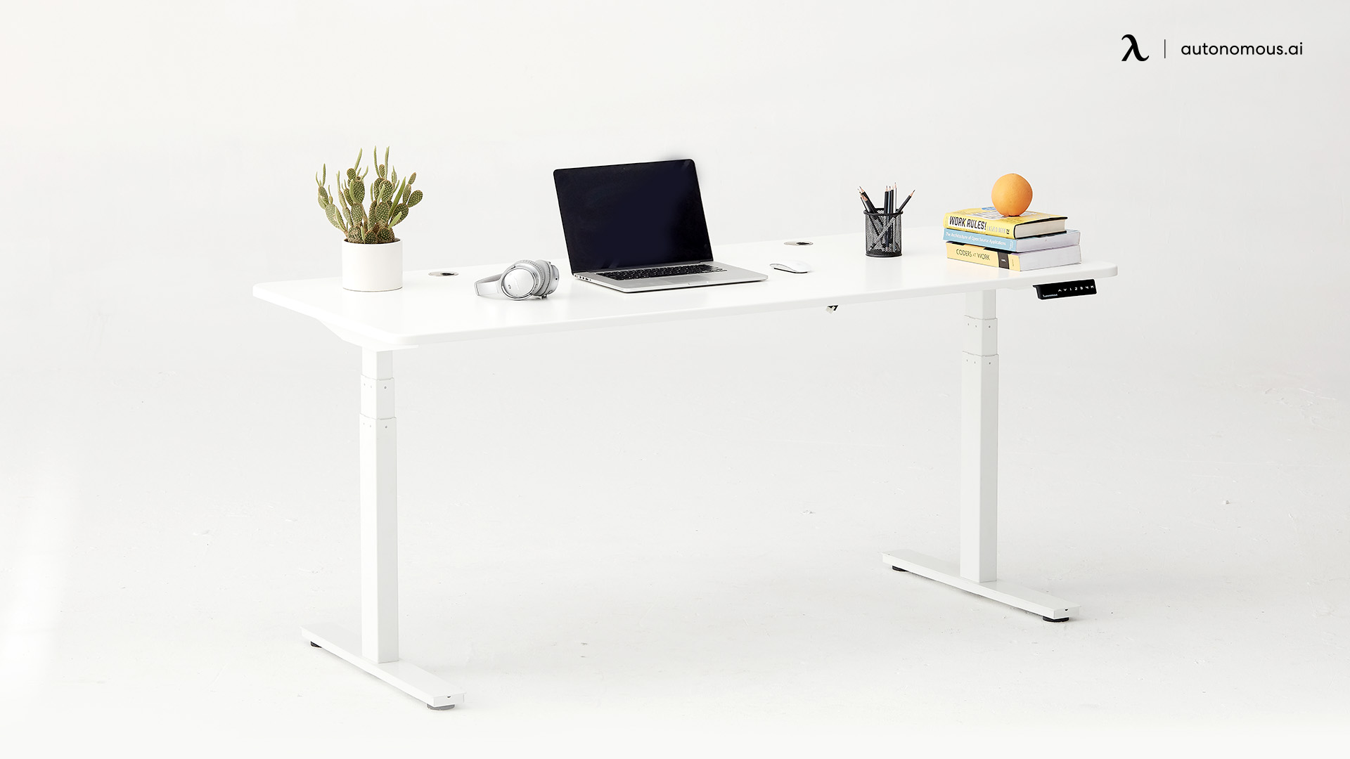 SmartDesk Premium white standing desk
