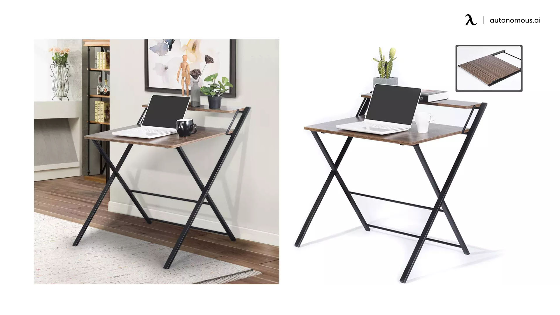 Green Forest Folding Desk