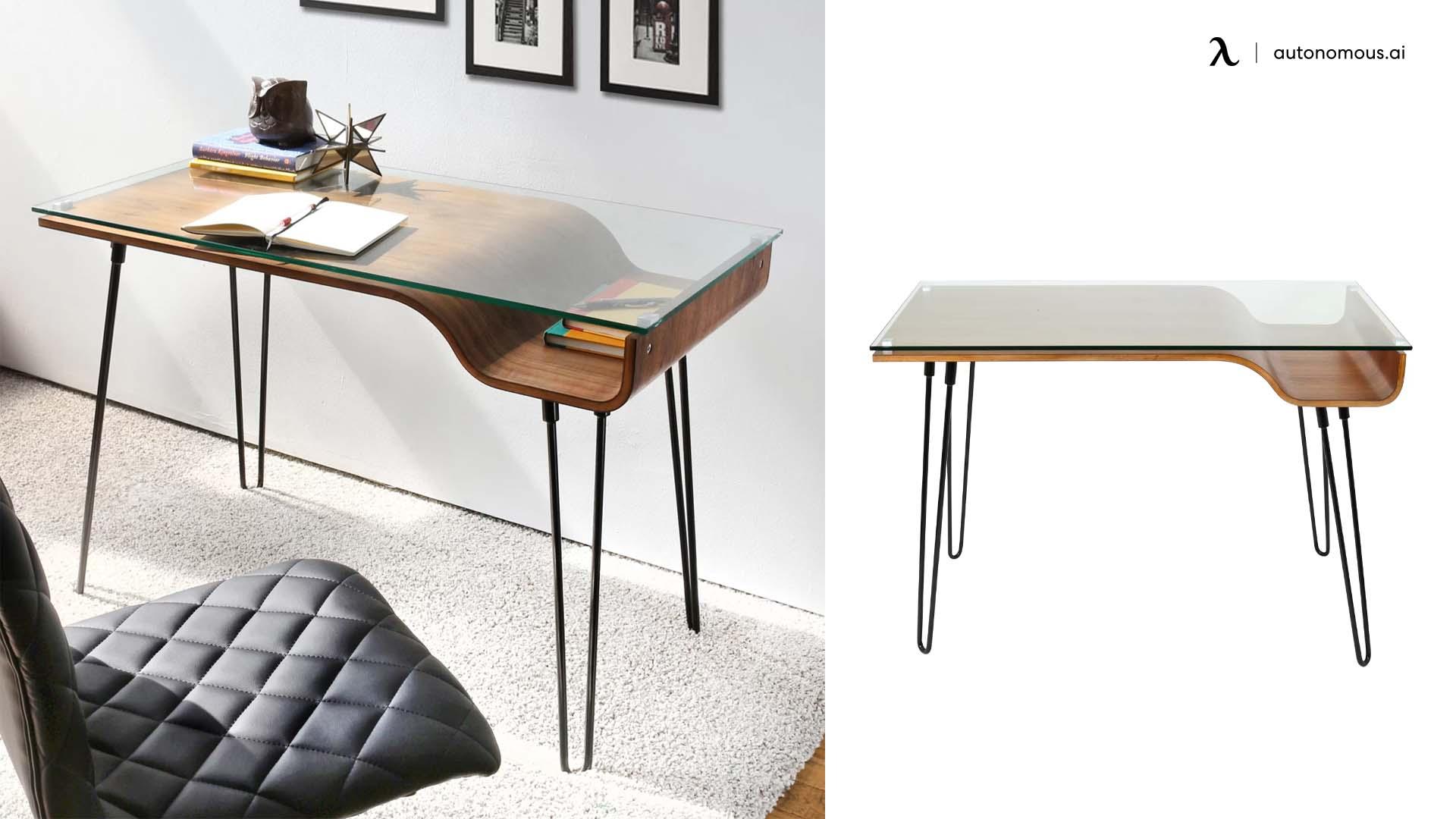 Wade Logan Callendale Glass Desk