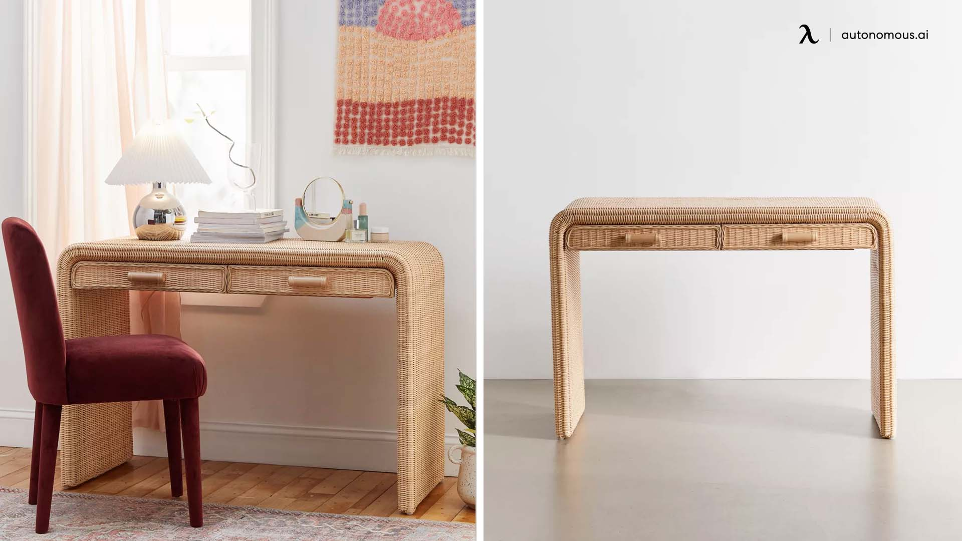 Marisol Rattan Desk from Urban Outfitters
