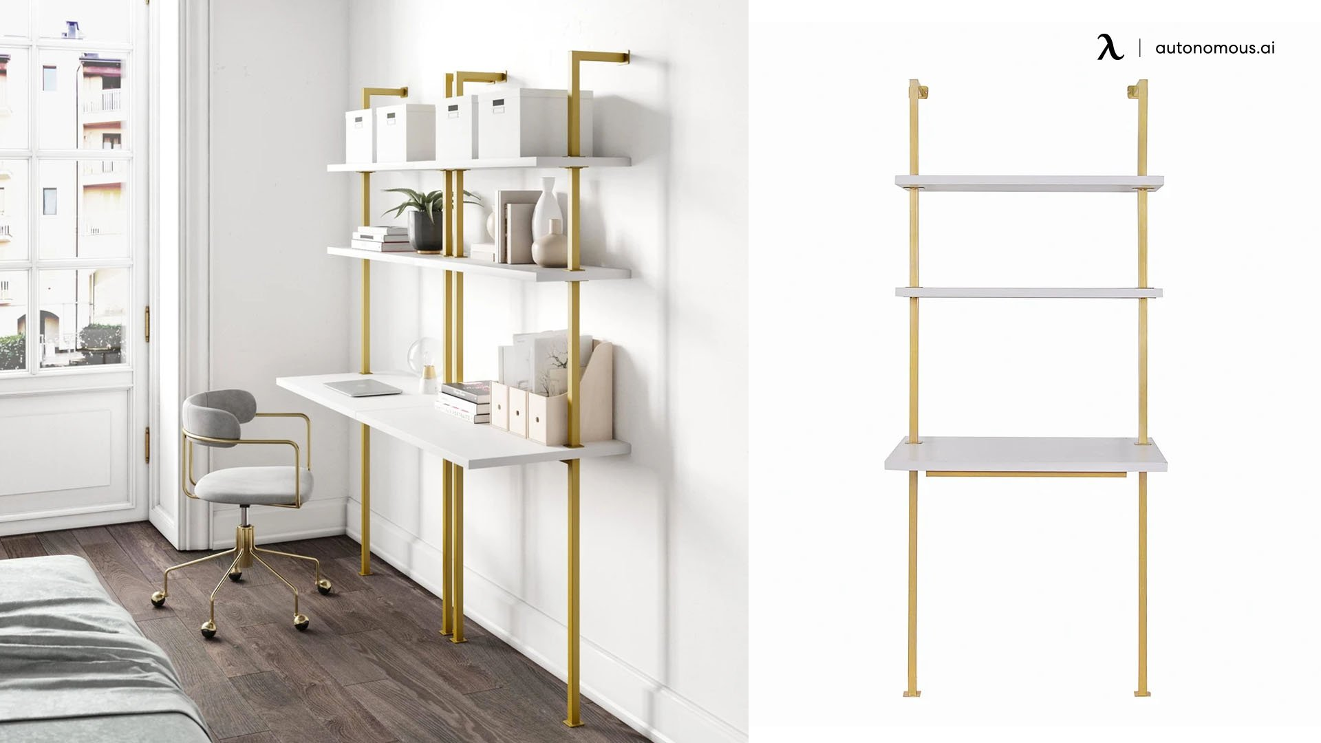 Nathan James Theo Industrial Ladder Desk