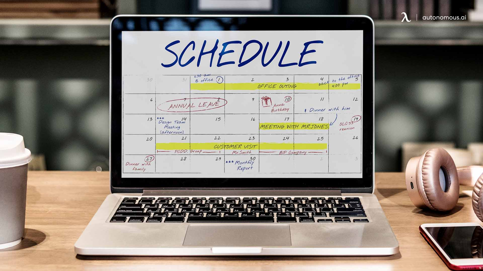 Commit to a schedule