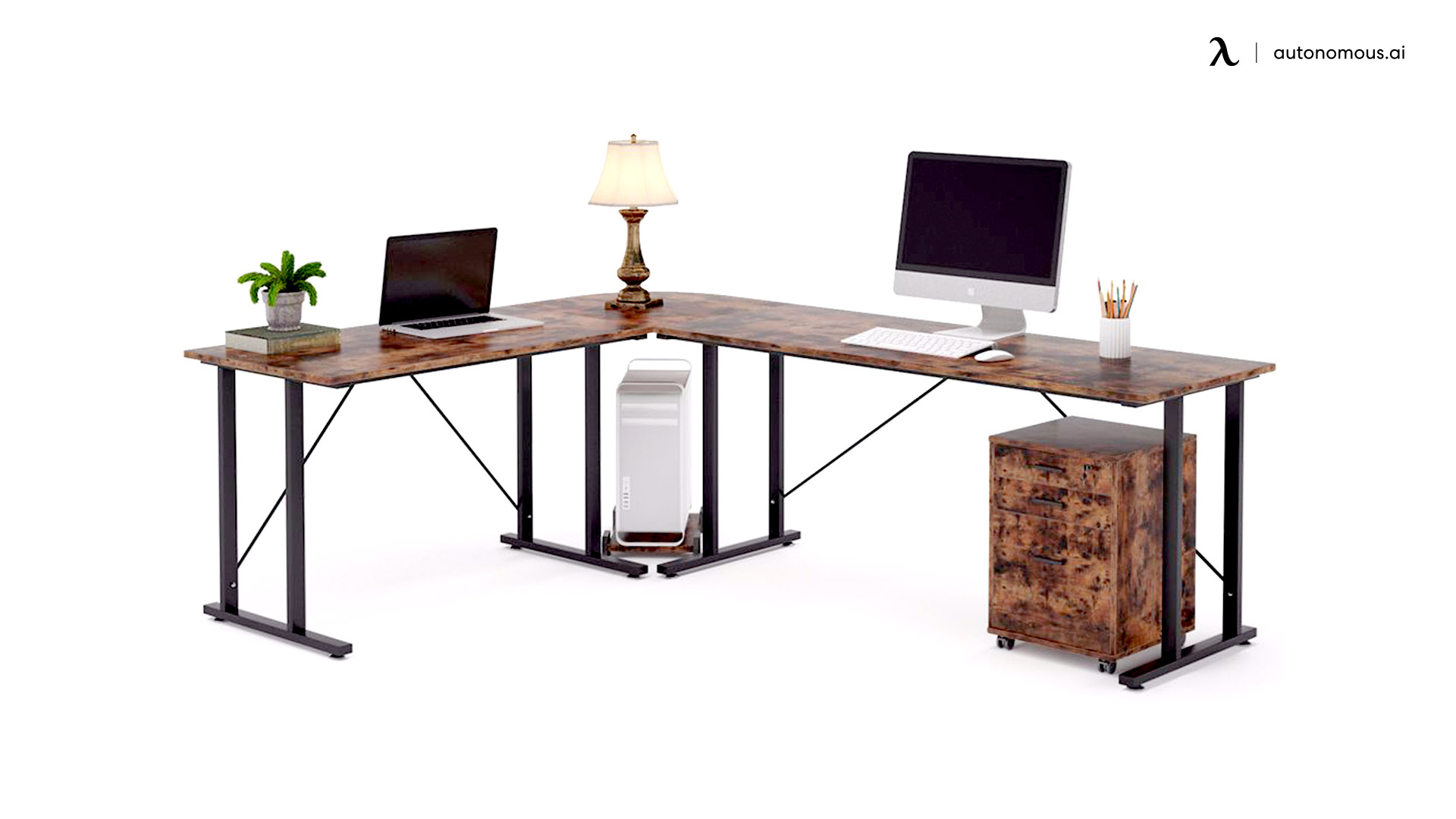 Tribesigns Industrial L-Shaped Desk